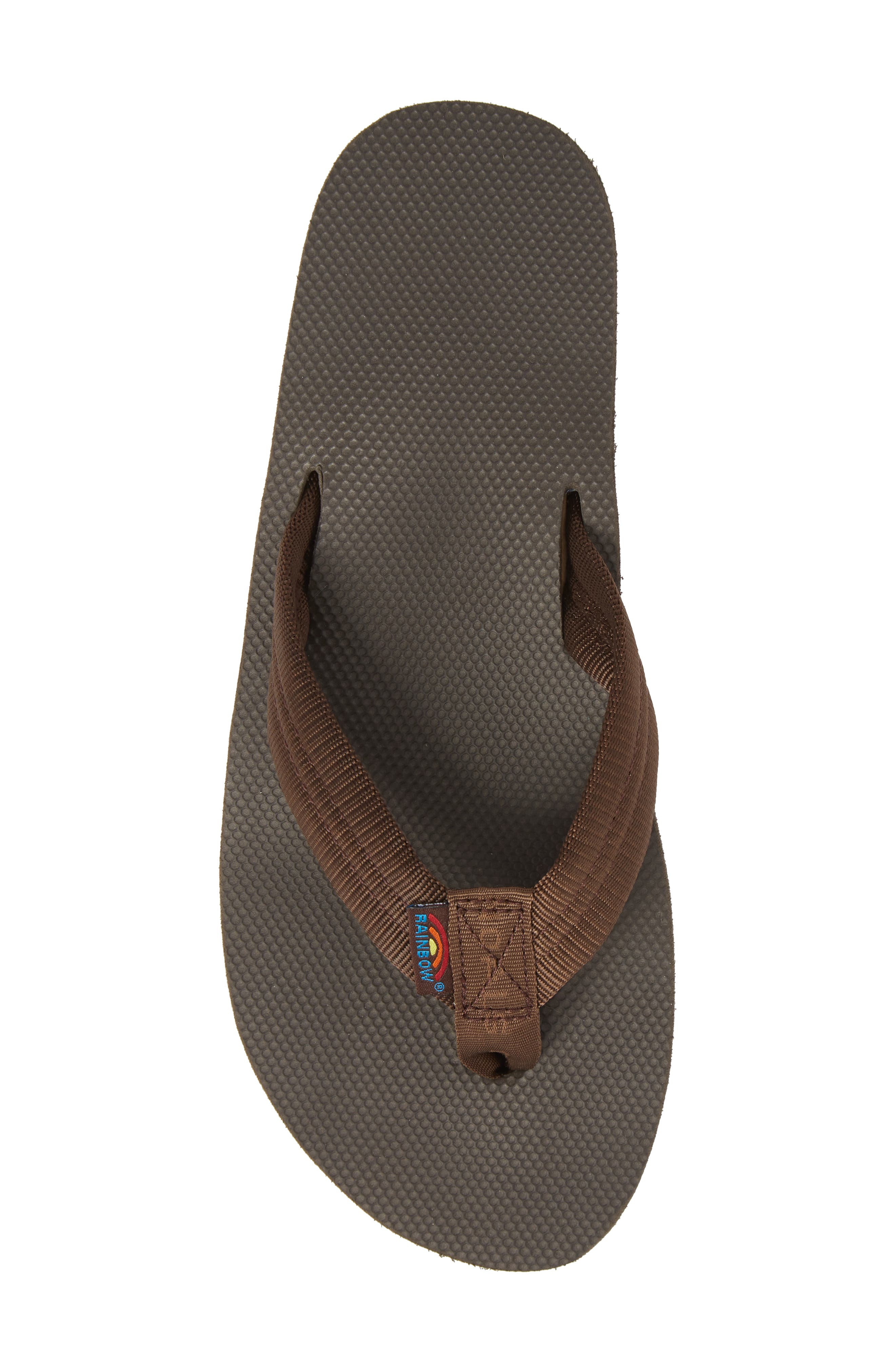 Double Layer Classic Flip Flop,                             Alternate thumbnail 5, color,                             Brown