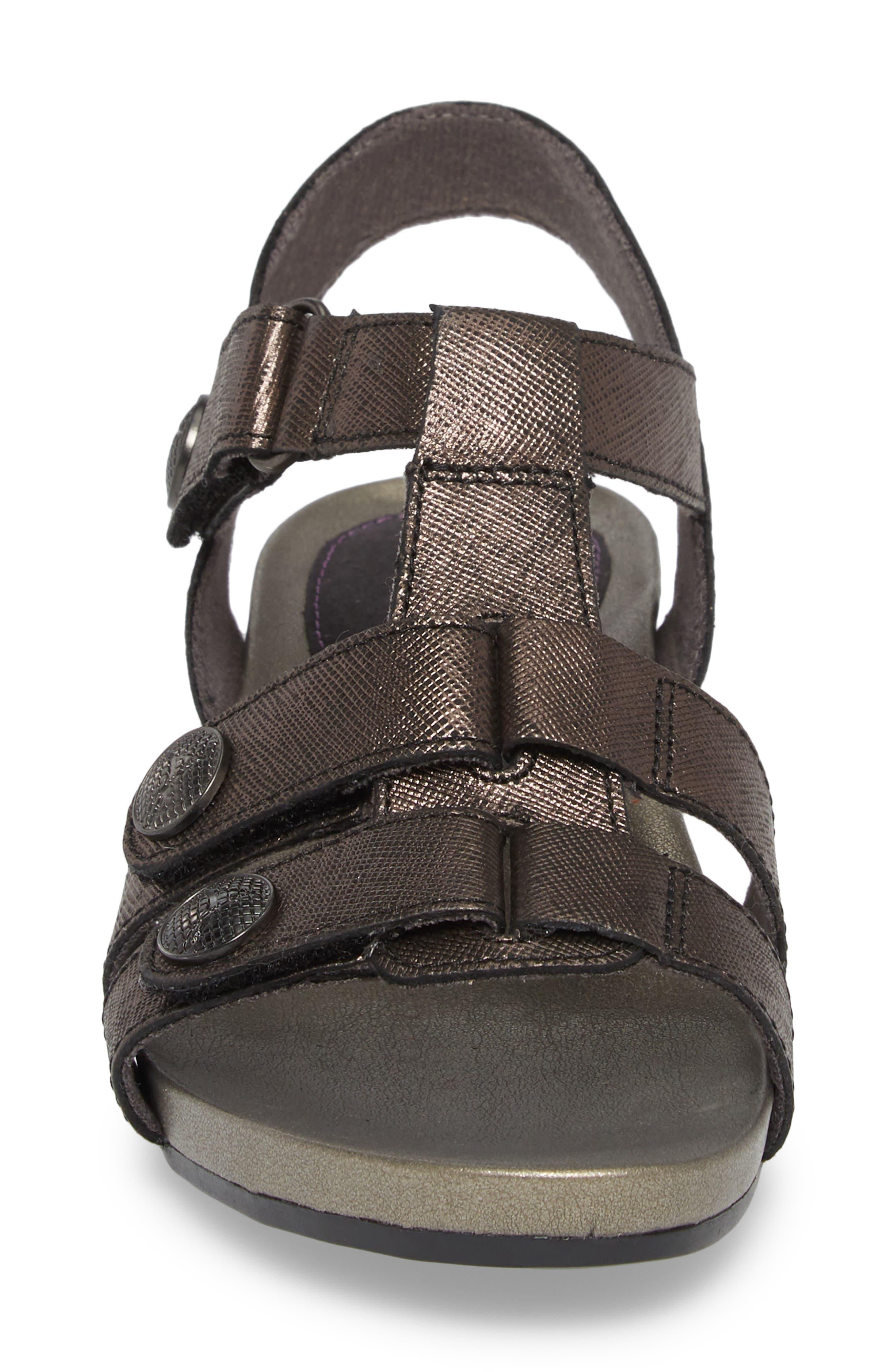Standon Sandal,                             Alternate thumbnail 4, color,                             Black Leather