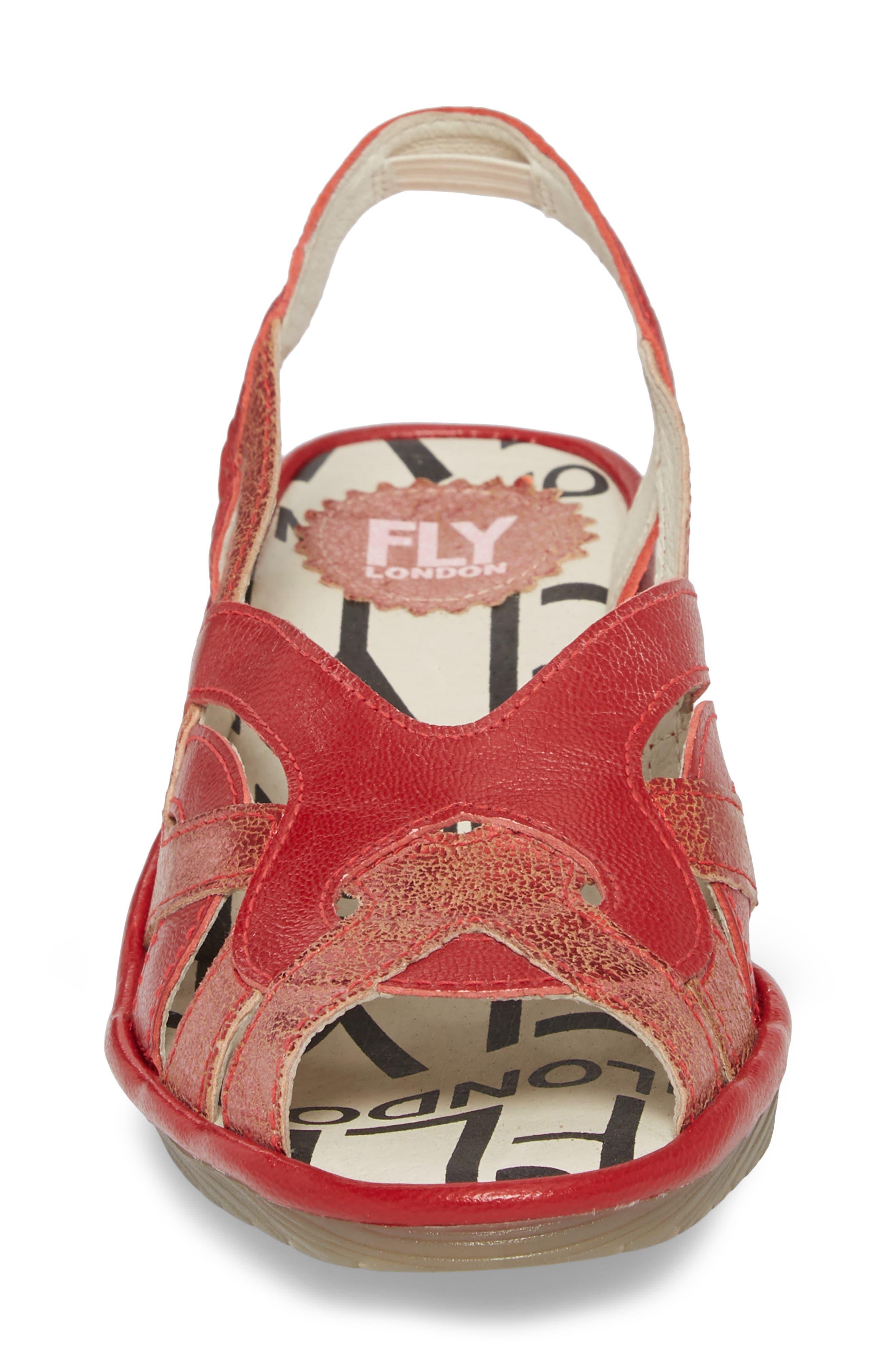 Pima Sandal,                             Alternate thumbnail 4, color,                             Red Mix Leather
