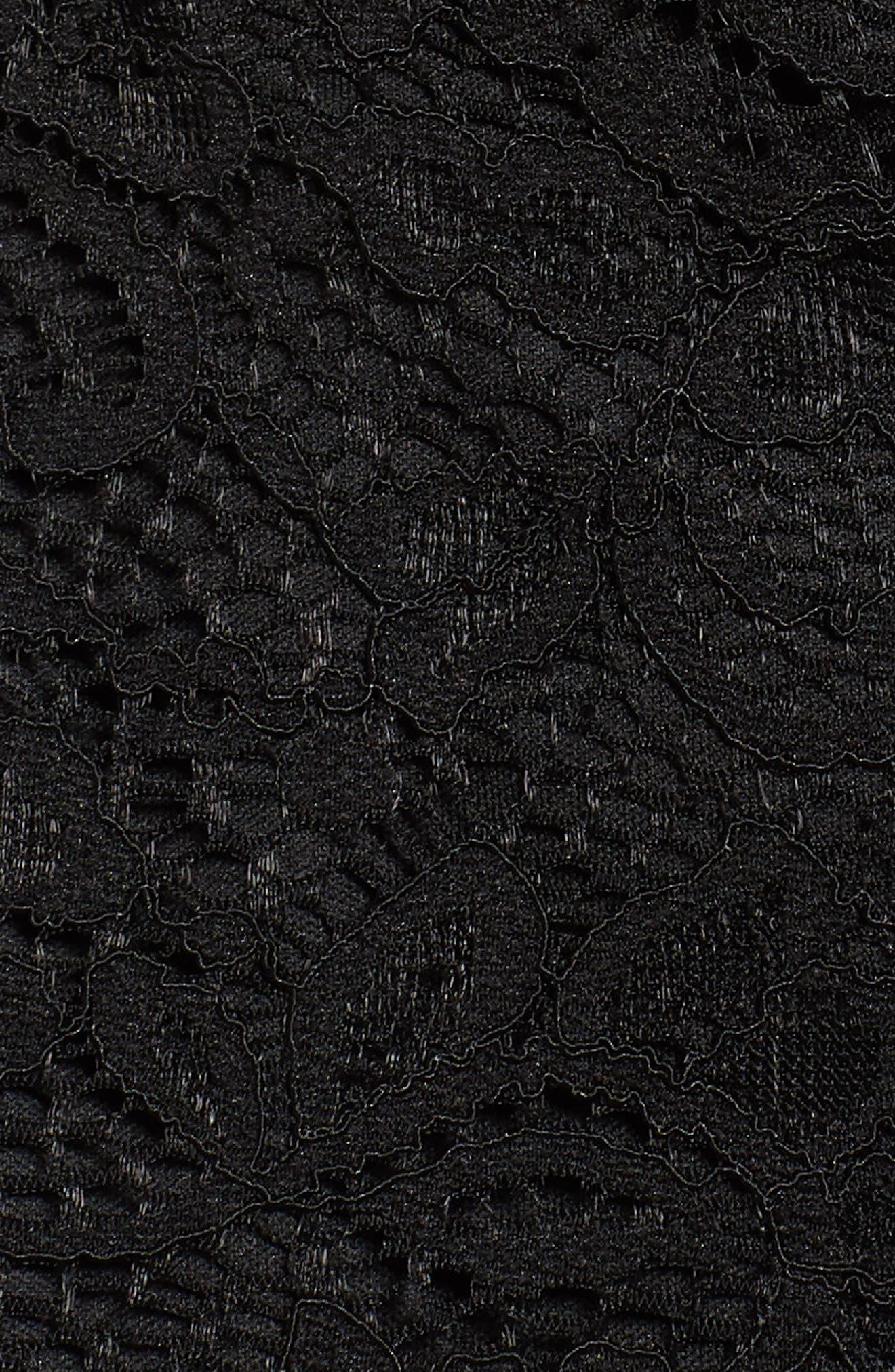 Lace Romper,                             Alternate thumbnail 5, color,                             Black