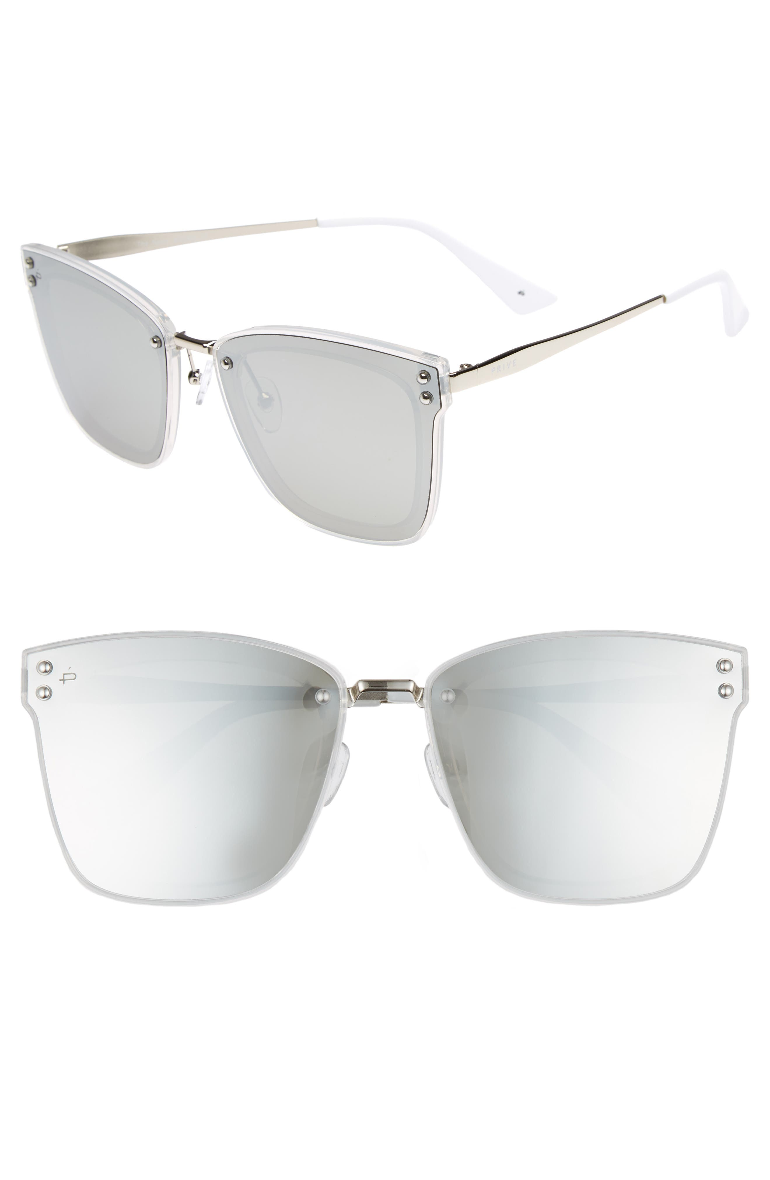 Privé Revaux The Nasty Woman 50mm Square Sunglasses