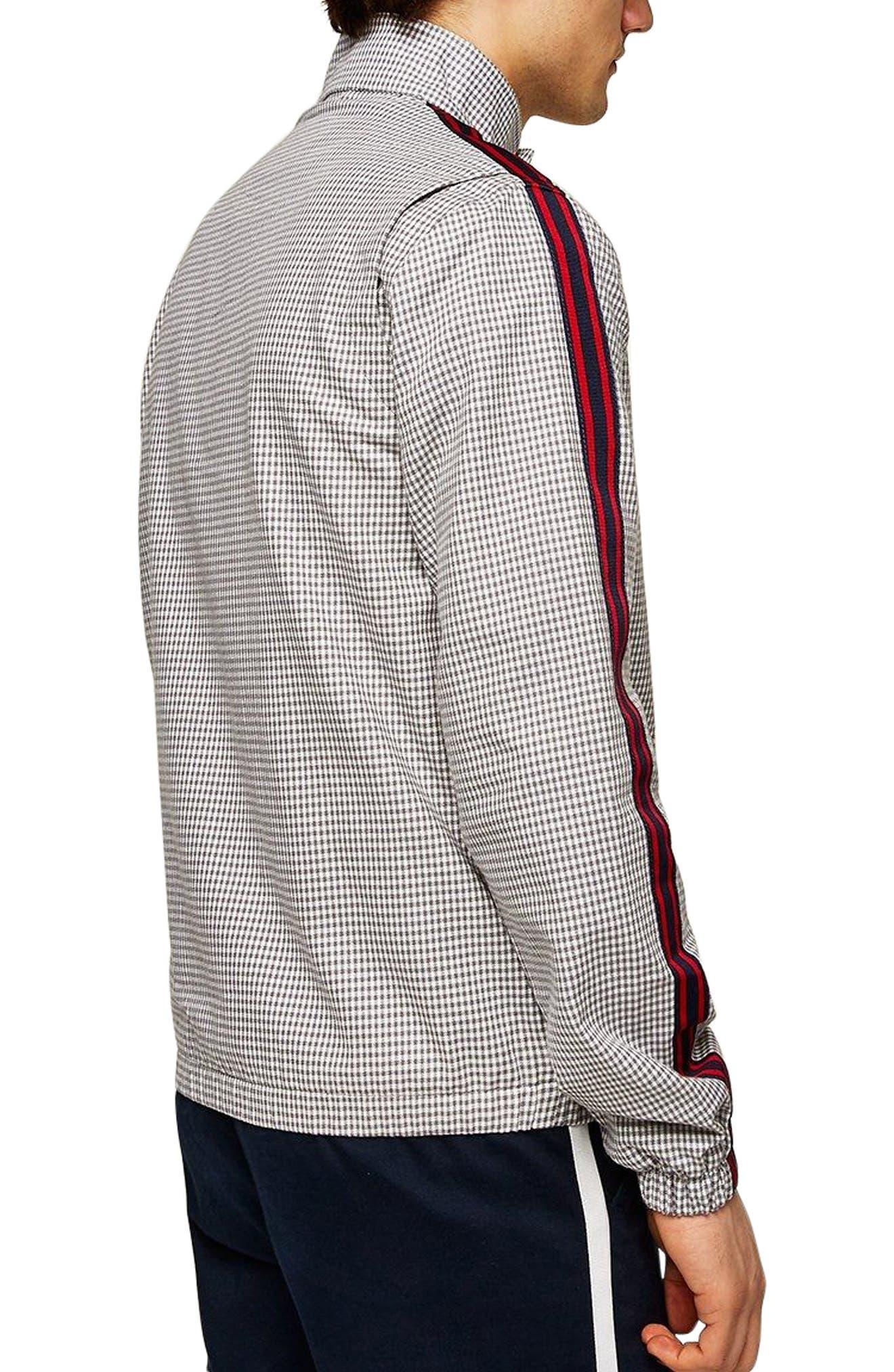 Check Harrington Jacket,                             Alternate thumbnail 2, color,                             Light Grey Multi
