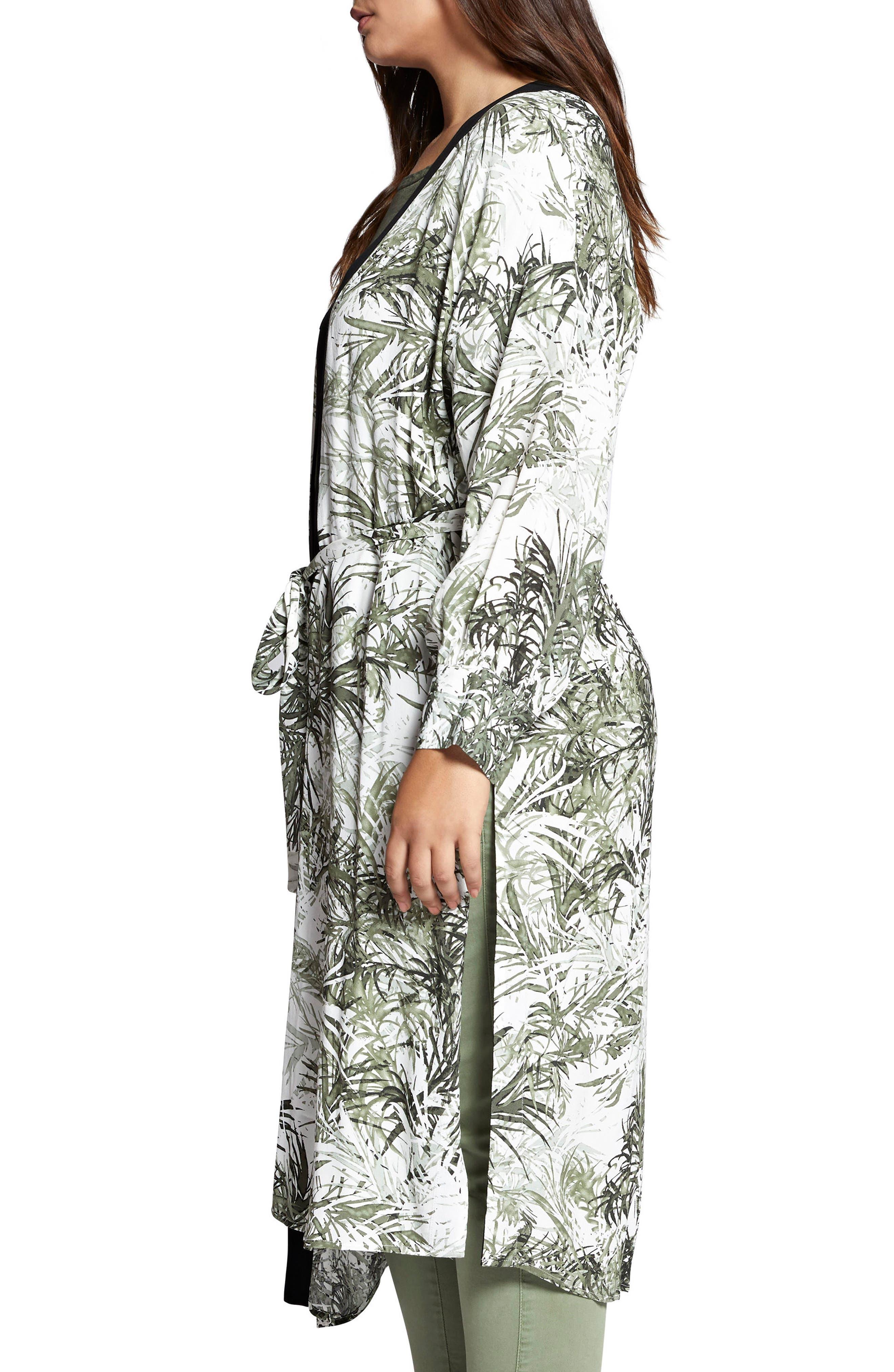 Calico Kimono,                             Alternate thumbnail 3, color,                             Tiki Palm