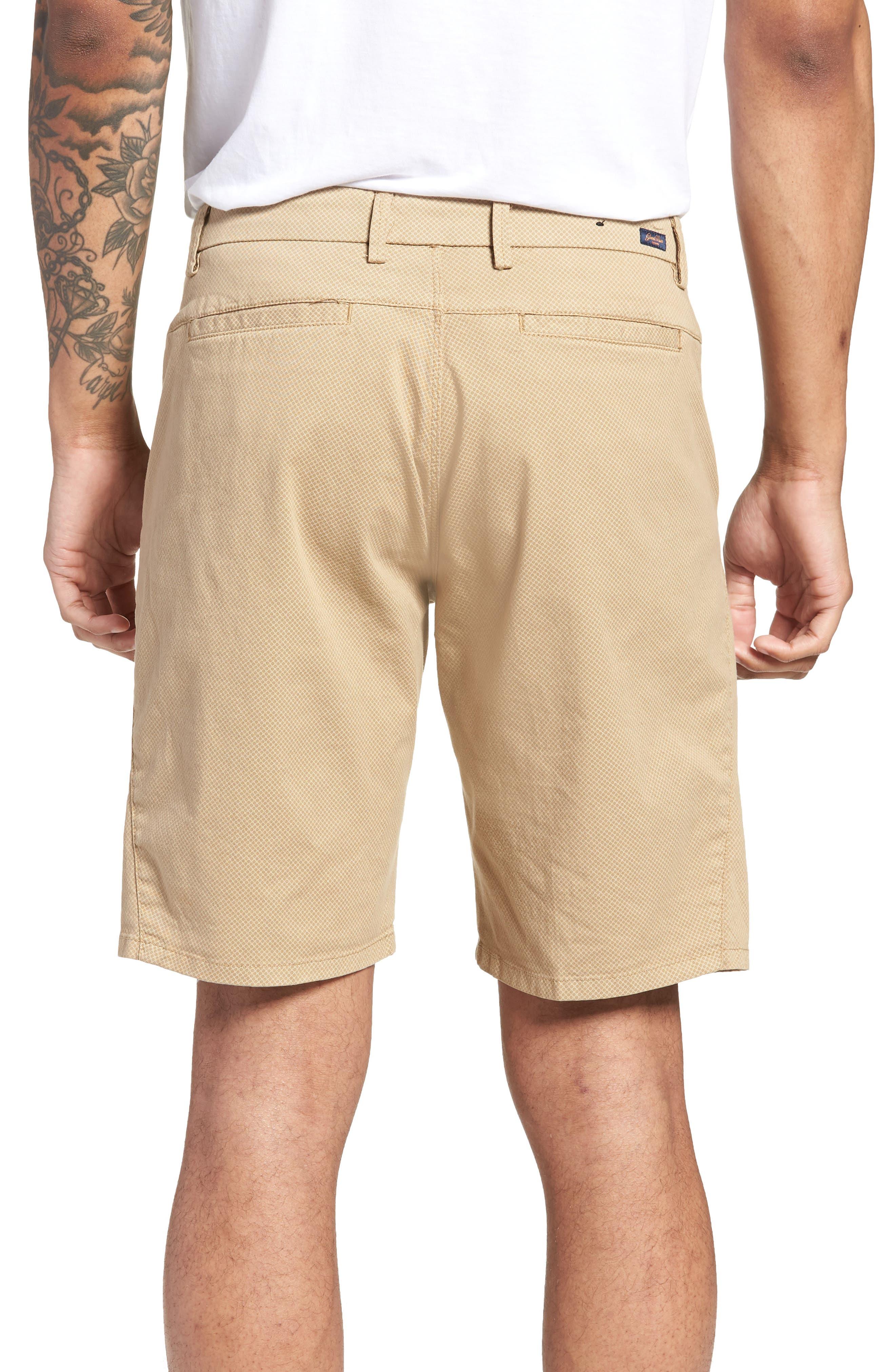 Monaco Diamond Dash Modern Fit Chino Shorts,                             Alternate thumbnail 2, color,                             Khaki