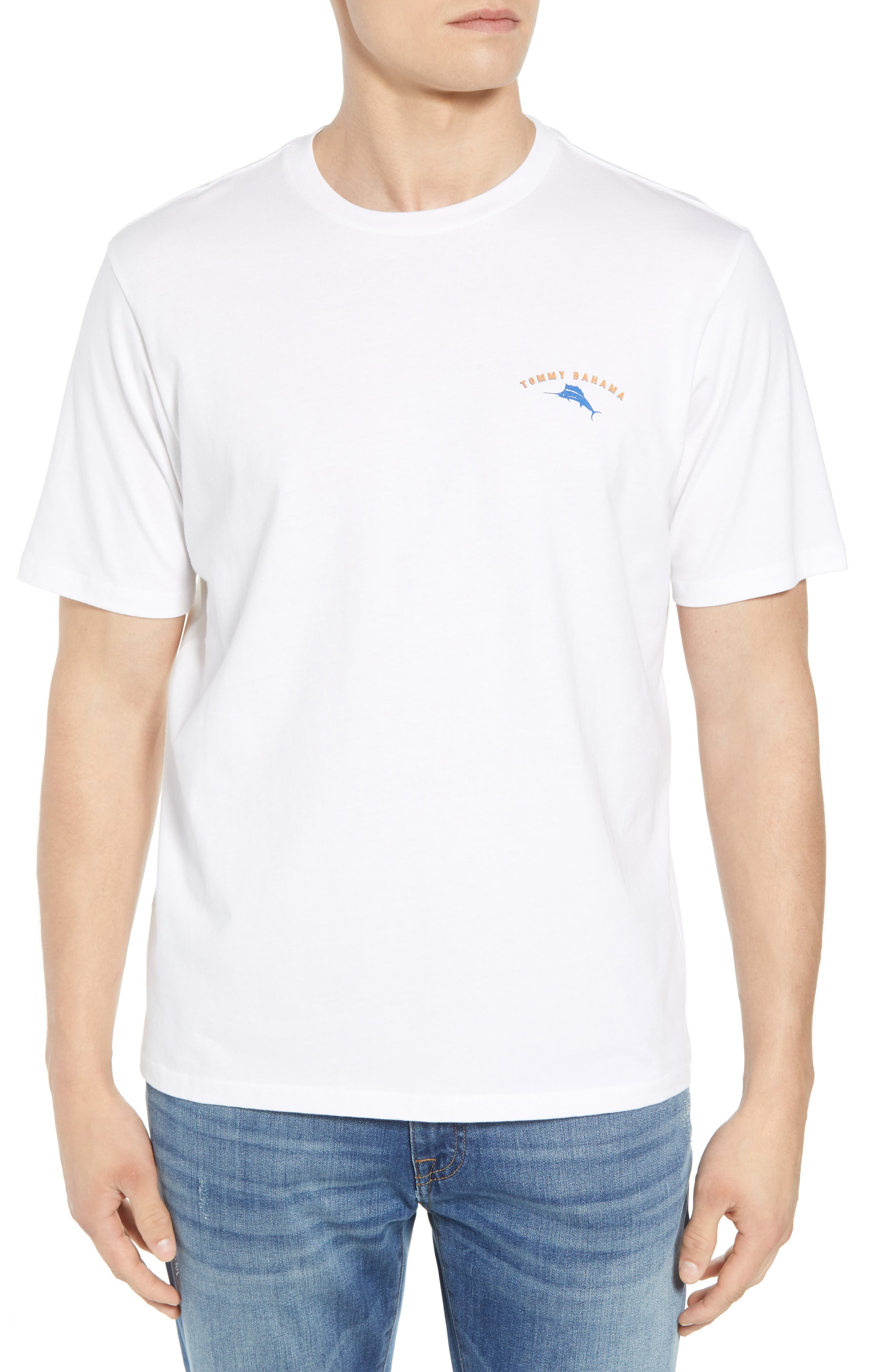 Fishin' Accomplished Graphic T-Shirt,                         Main,                         color, White