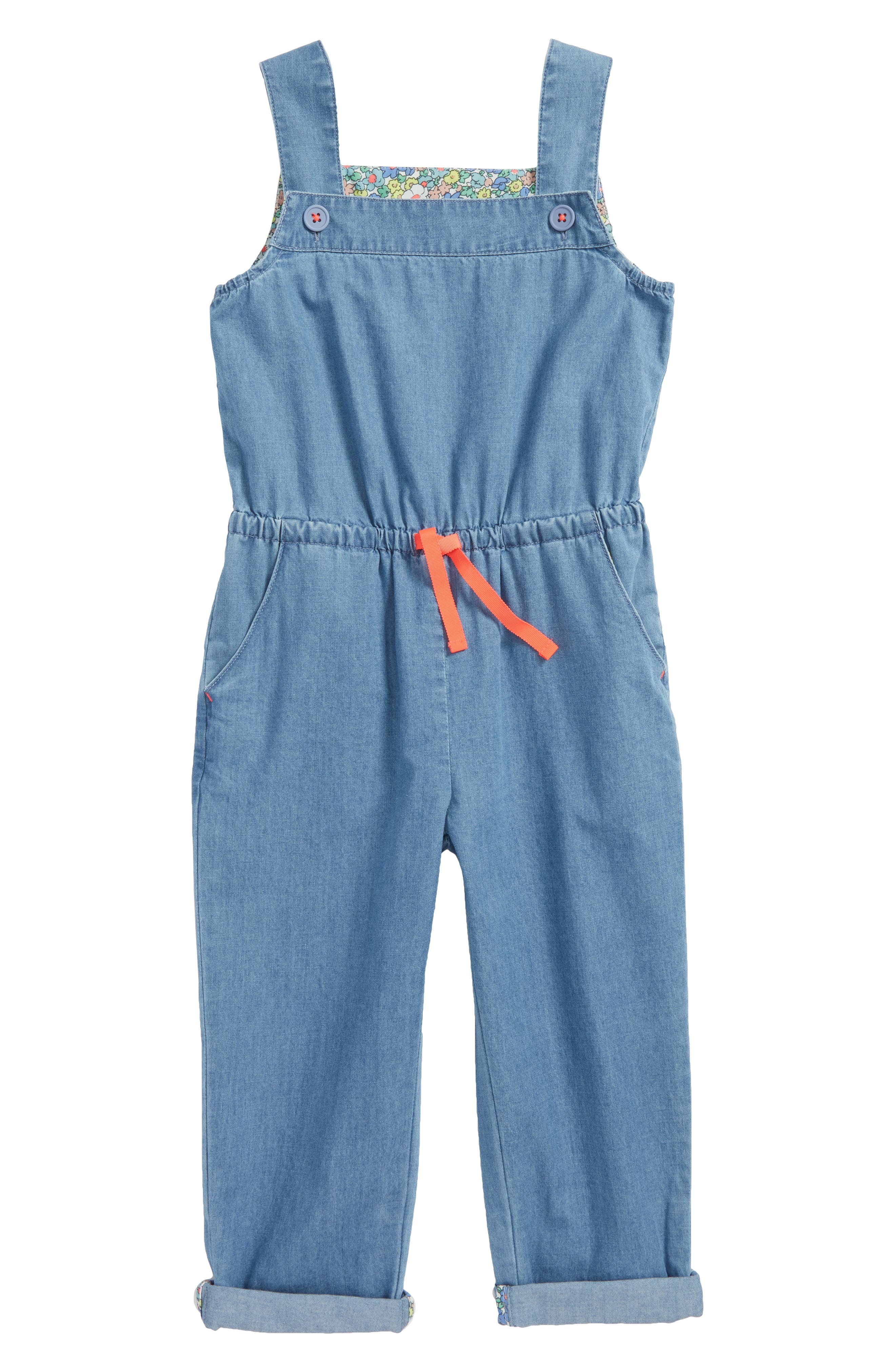Woven Jumpsuit,                         Main,                         color, Light Chambray