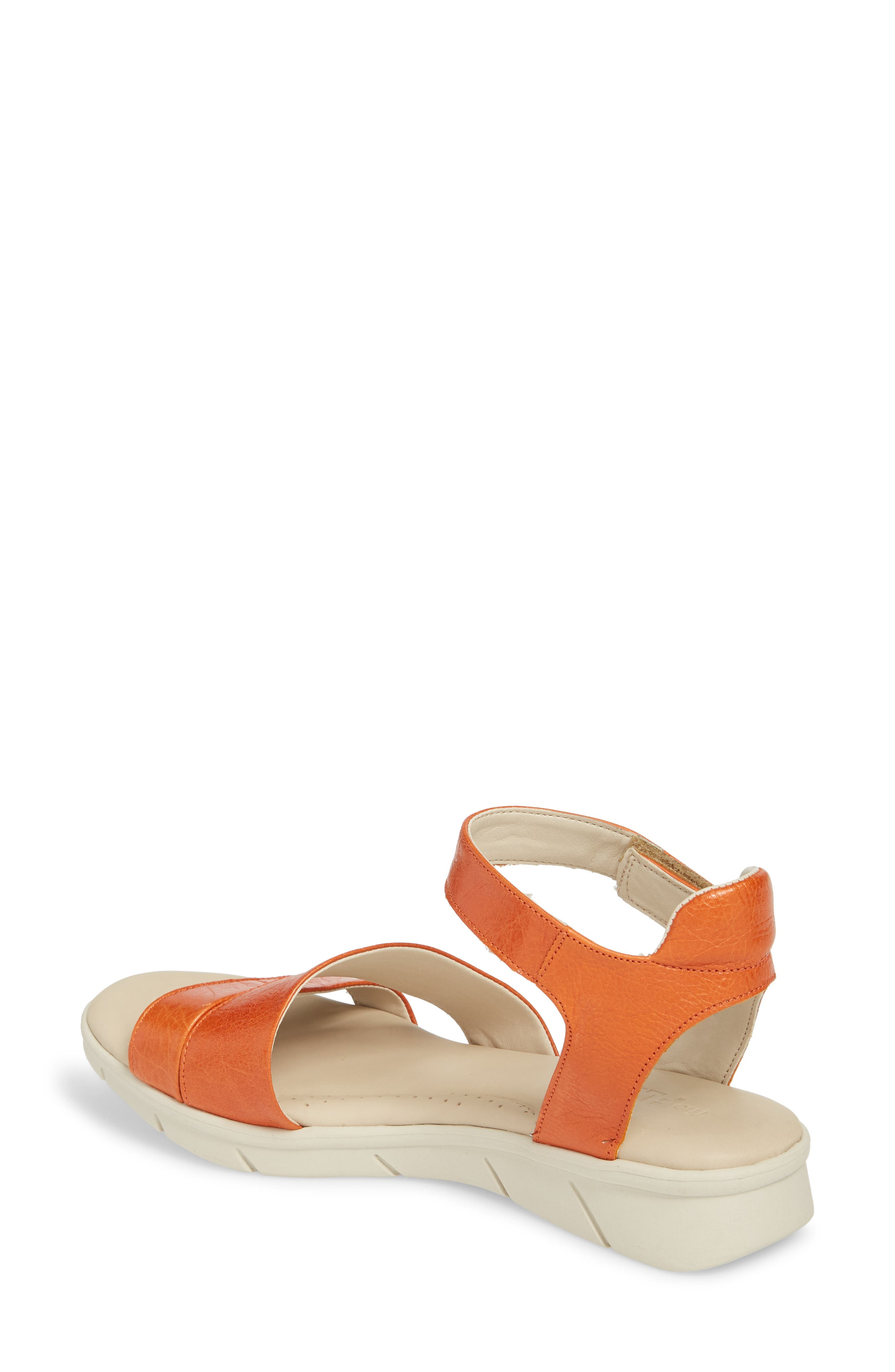 Crossover Ankle Strap Sandal,                             Alternate thumbnail 2, color,                             Mandarin Leather
