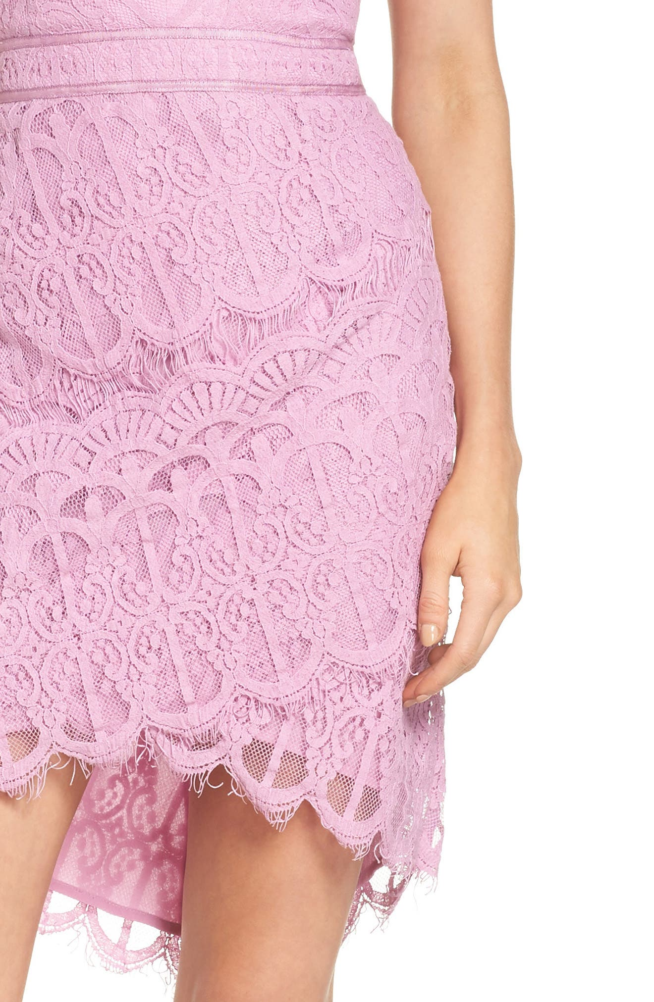 Strapless Lace Dress,                             Alternate thumbnail 4, color,                             Lilac
