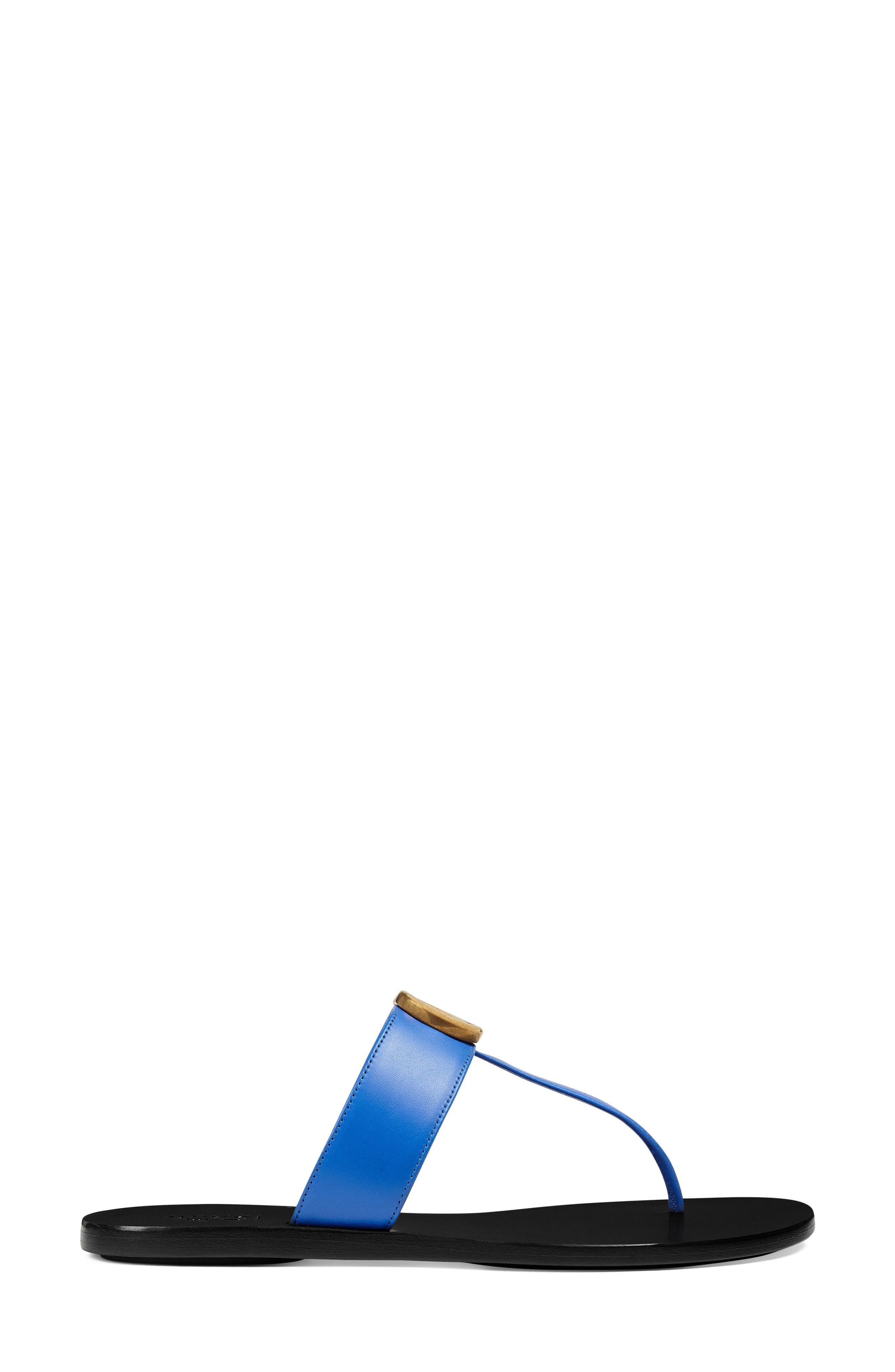 T-Strap Sandal,                             Alternate thumbnail 2, color,                             Electric Blue