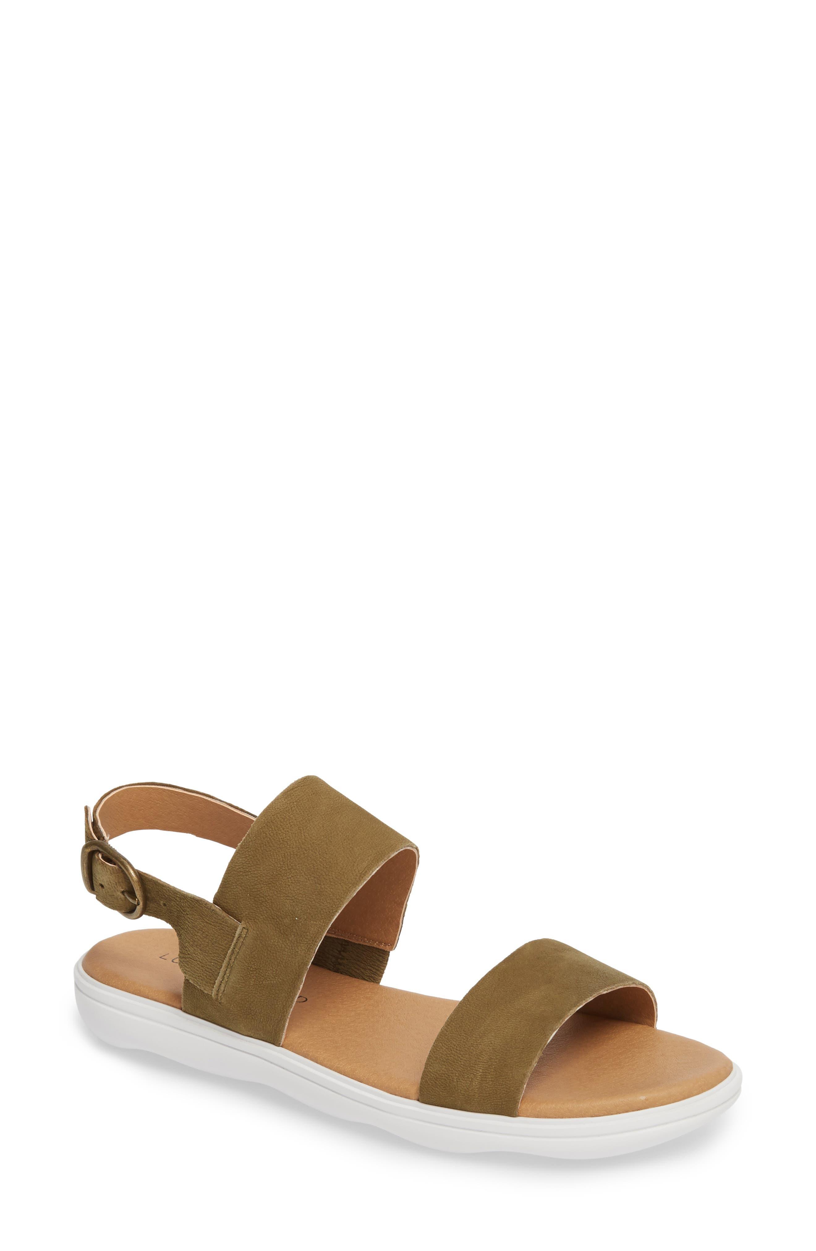 Madgey Sandal,                         Main,                         color, Drab Nubuck Leather