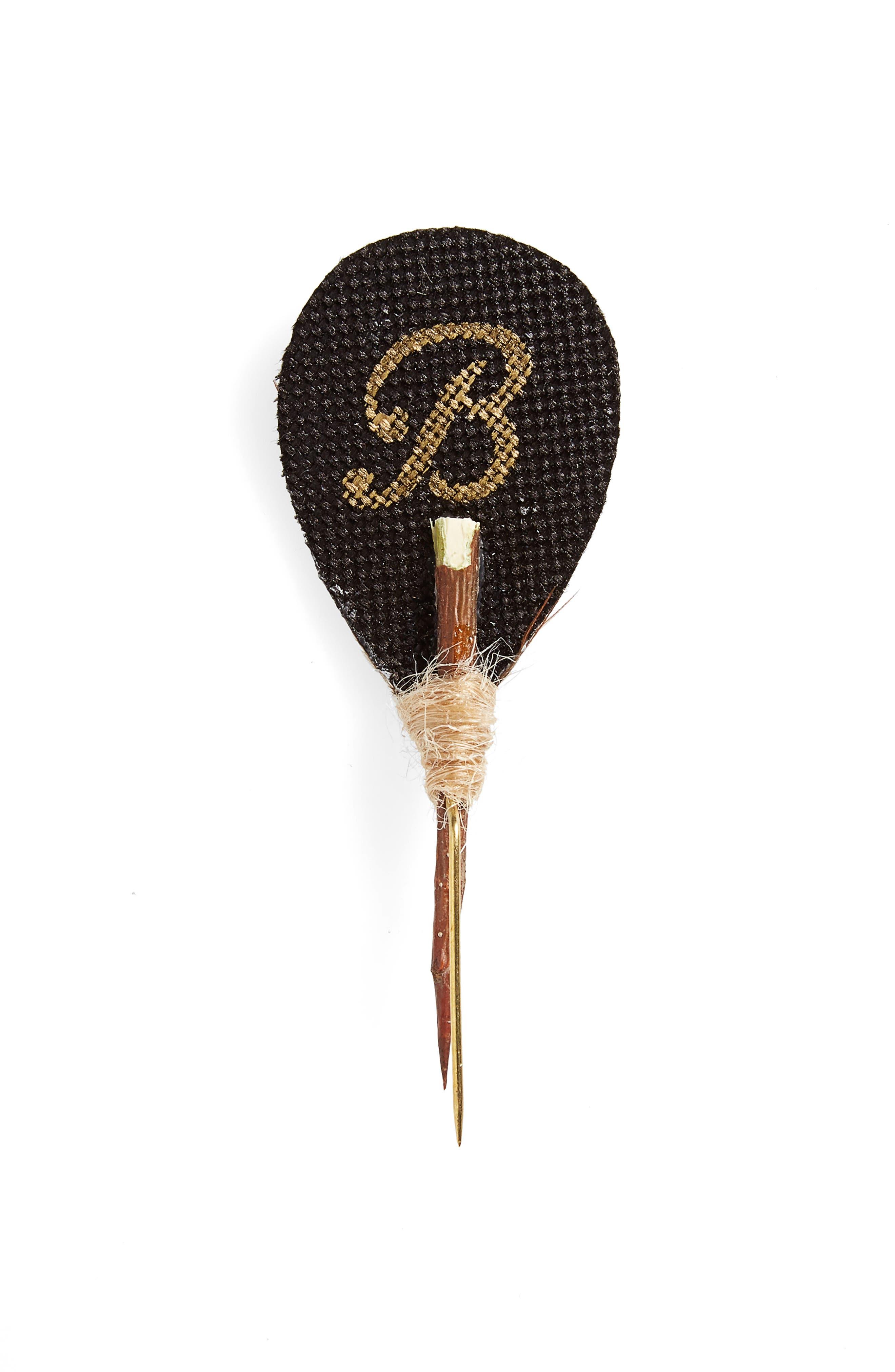 Brackish & Bell Cypress Lapel Pin,                             Alternate thumbnail 2, color,                             Brown