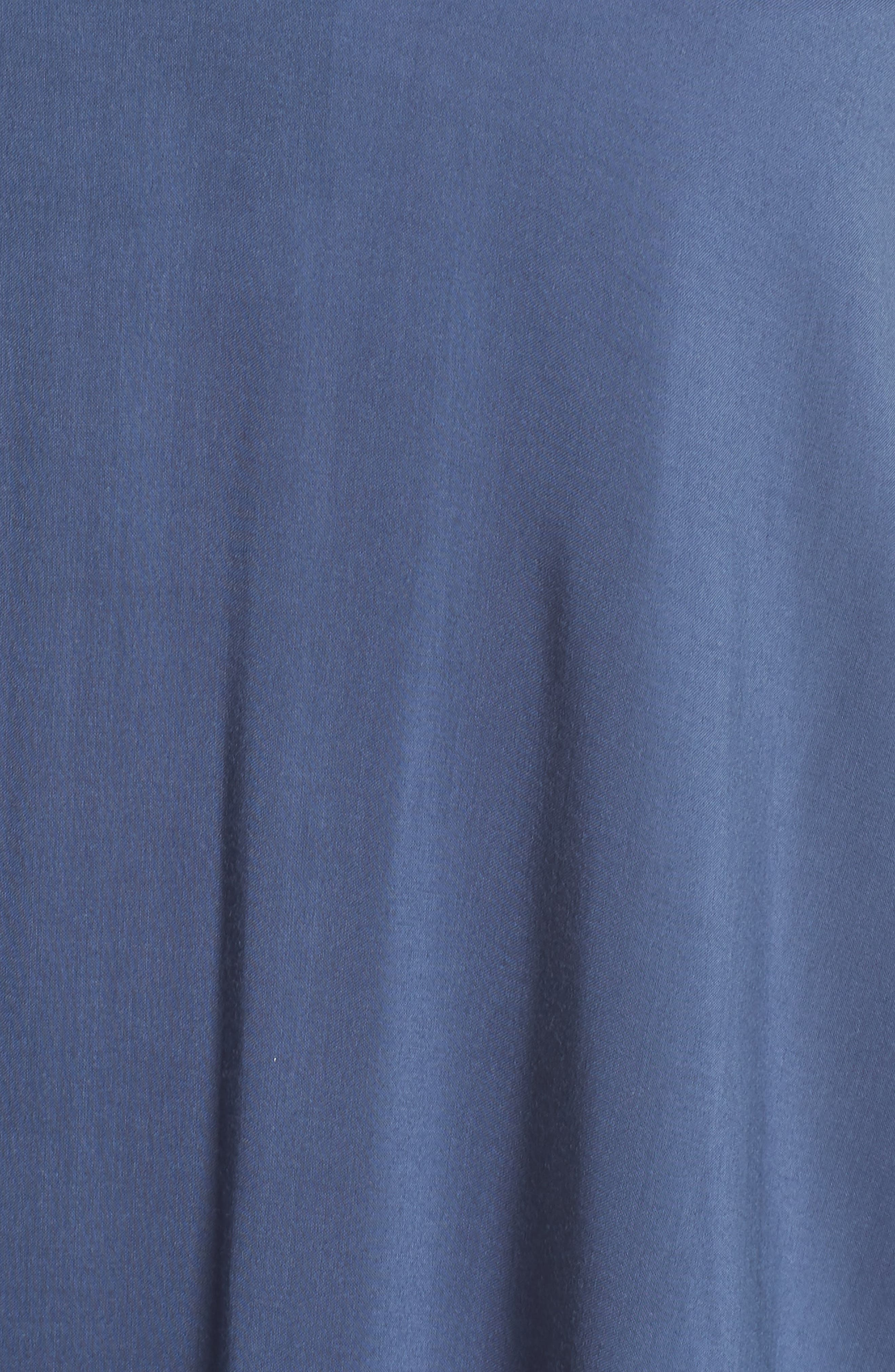 Strapless Keyhole Cover-Up Maxi Dress,                             Alternate thumbnail 5, color,                             Indigo