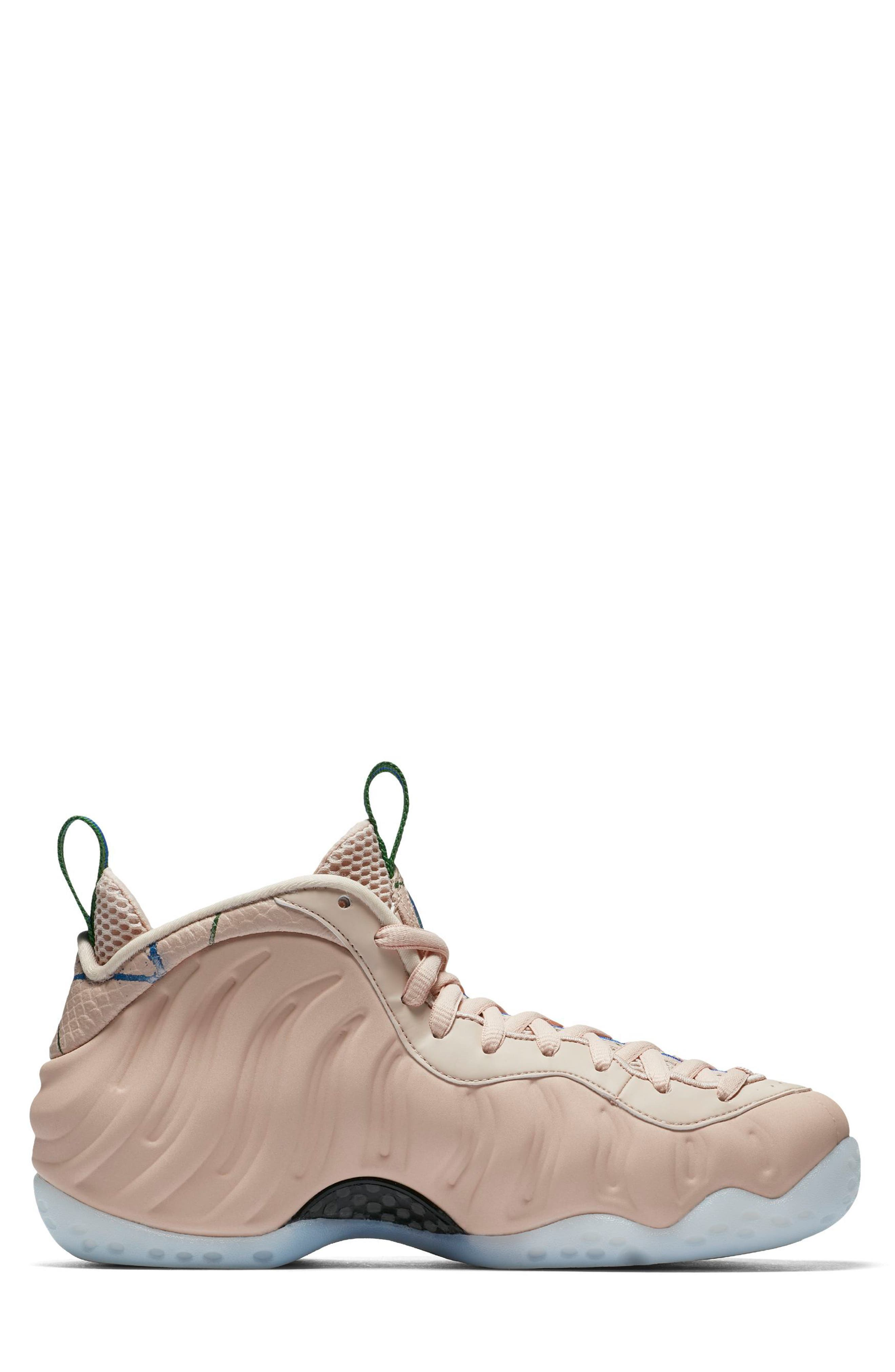 Air Foamposite One Sneaker,                             Alternate thumbnail 3, color,                             Particle Beige/ White