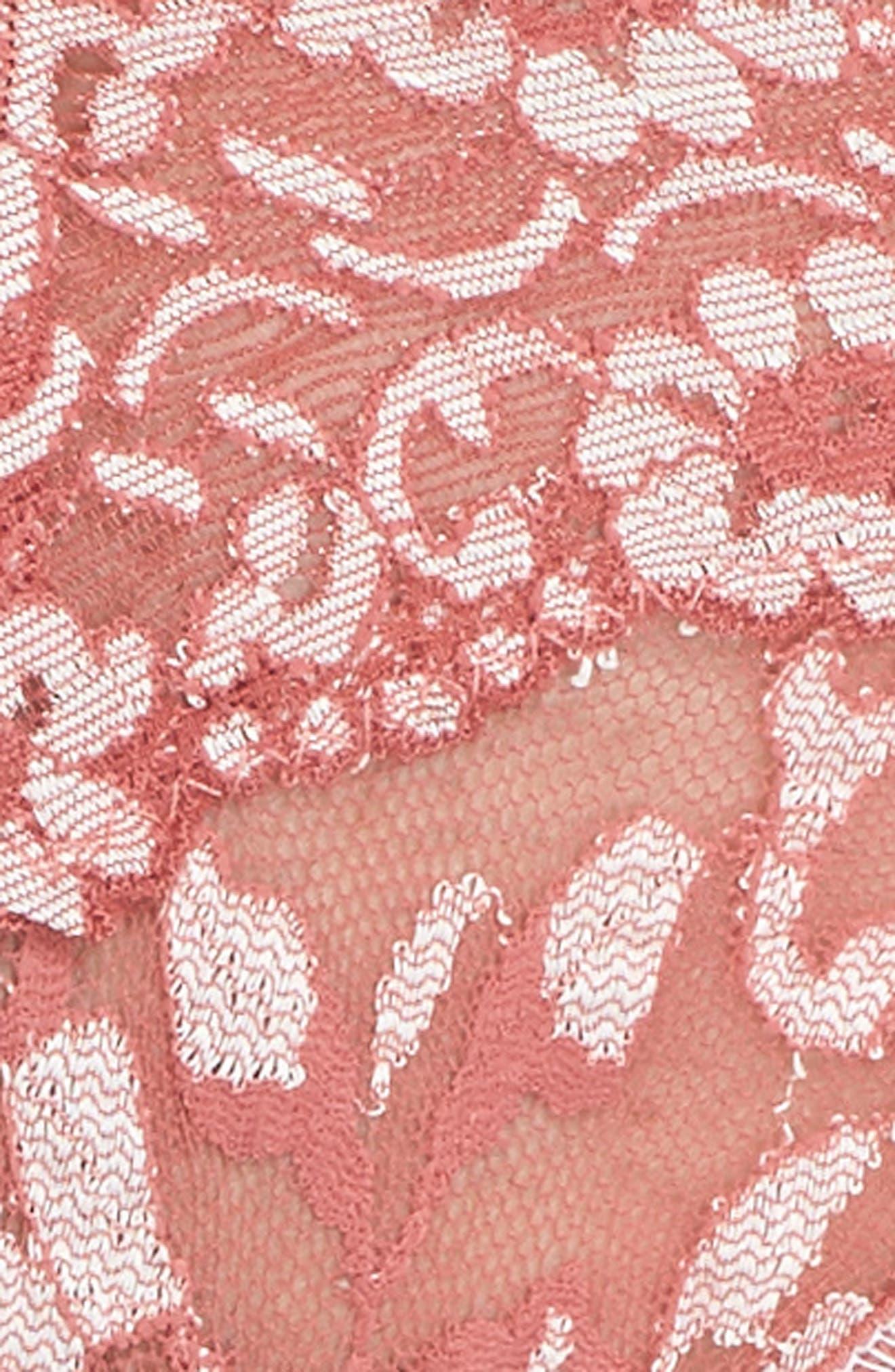 Cross Dyed Regular Rise Thong,                             Alternate thumbnail 5, color,                             Pink Sands/ Marshmallow
