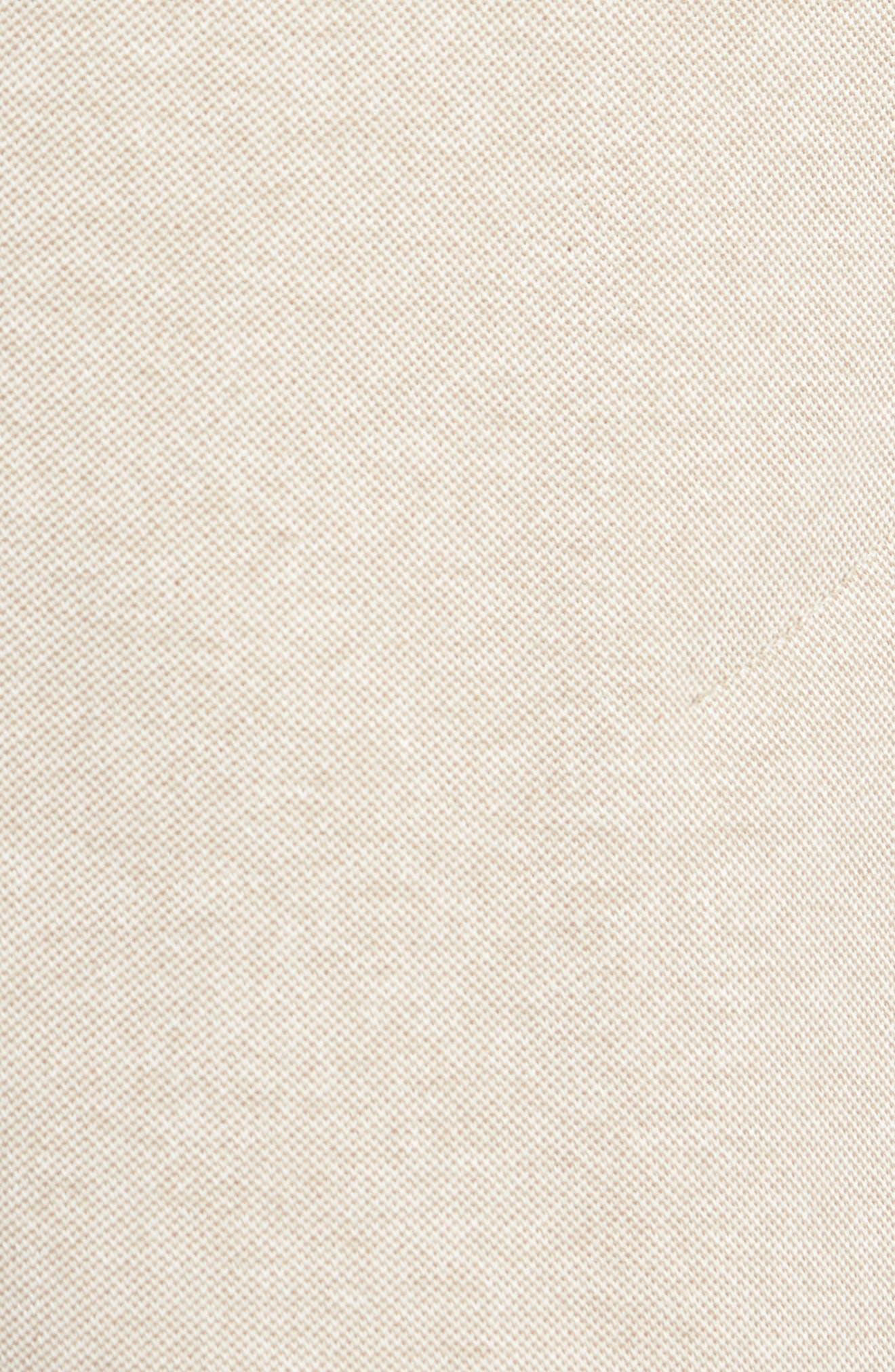 Regular Fit Piqué Blazer,                             Alternate thumbnail 5, color,                             Sand