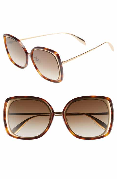 203dc30f6d Alexander McQueen 57mm Square Sunglasses