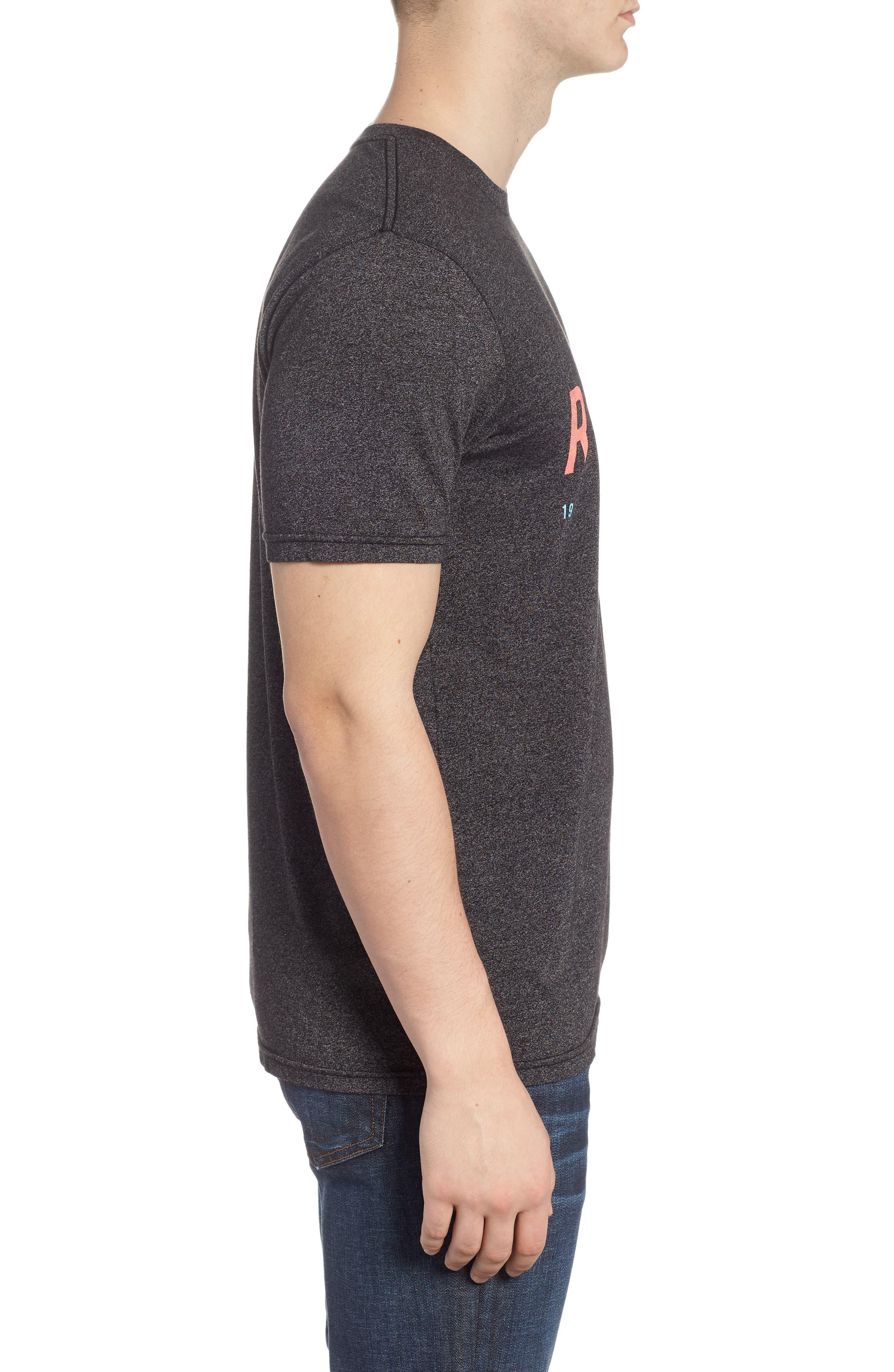 Ascender Mock Twist T-Shirt,                             Alternate thumbnail 3, color,                             Black Heather