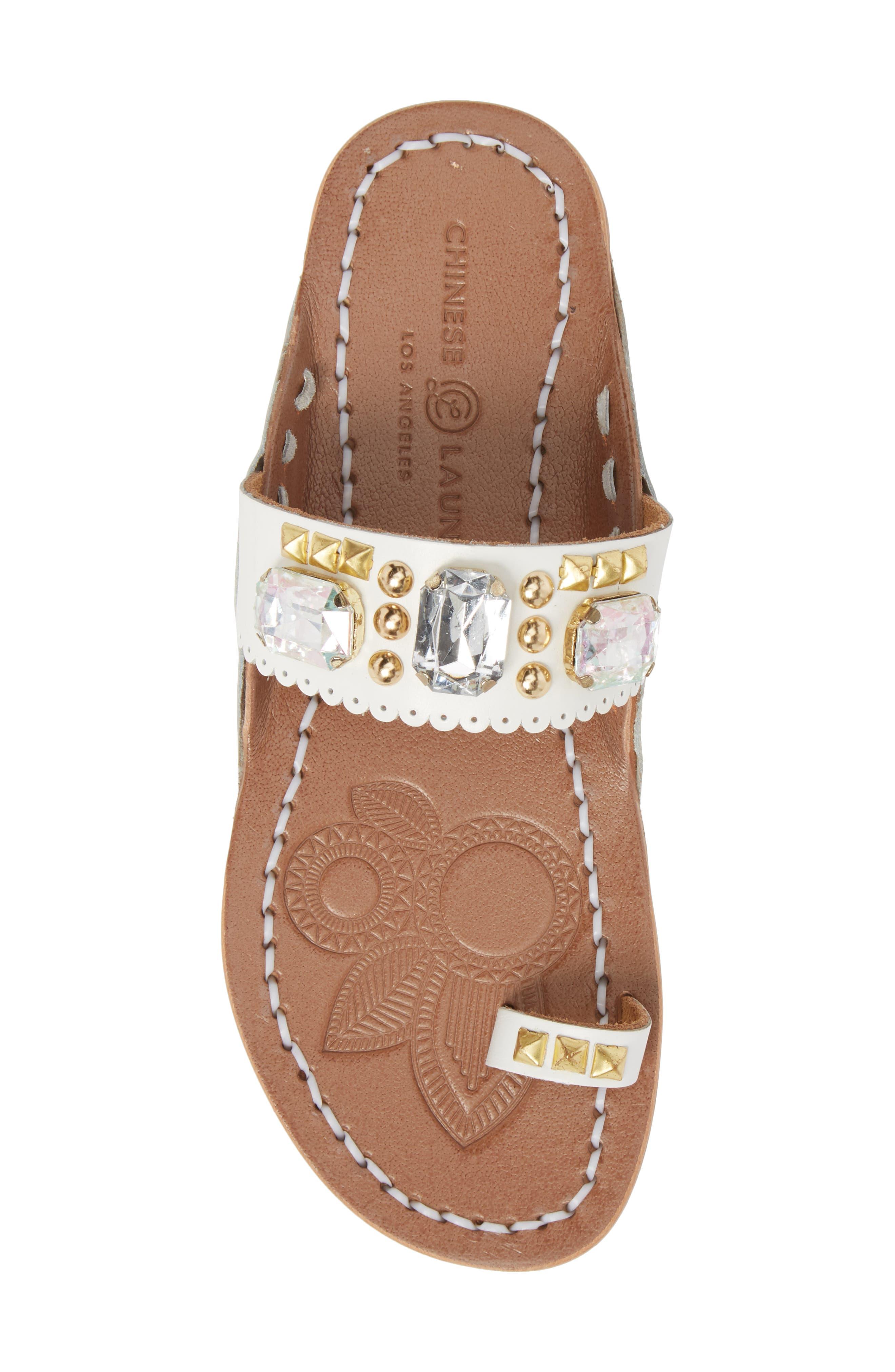 Alternate Image 5  - Chinese Laundry Jada Embellished Slide Sandal (Women)