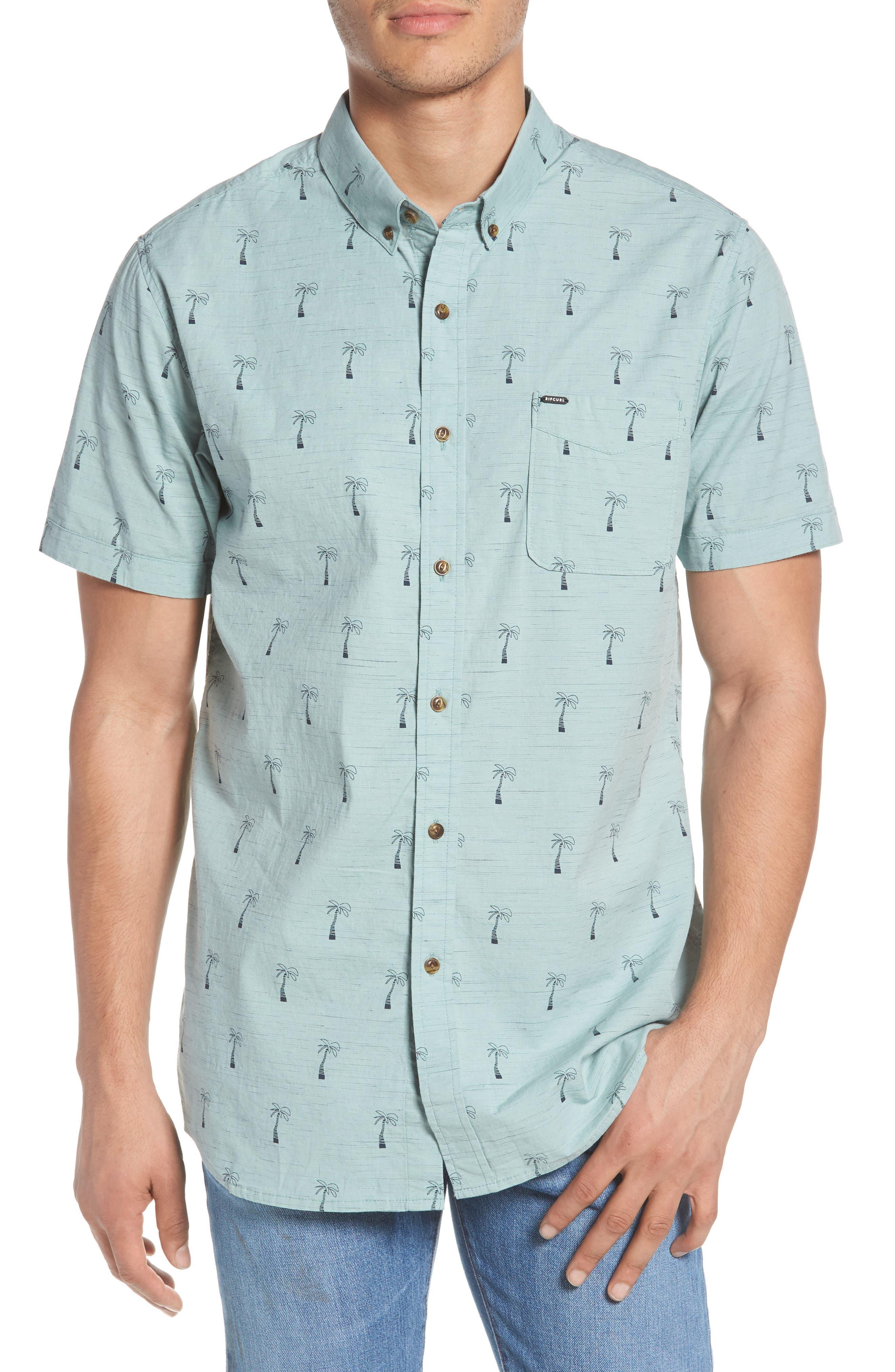 Riviera Woven Shirt,                         Main,                         color, Aqua