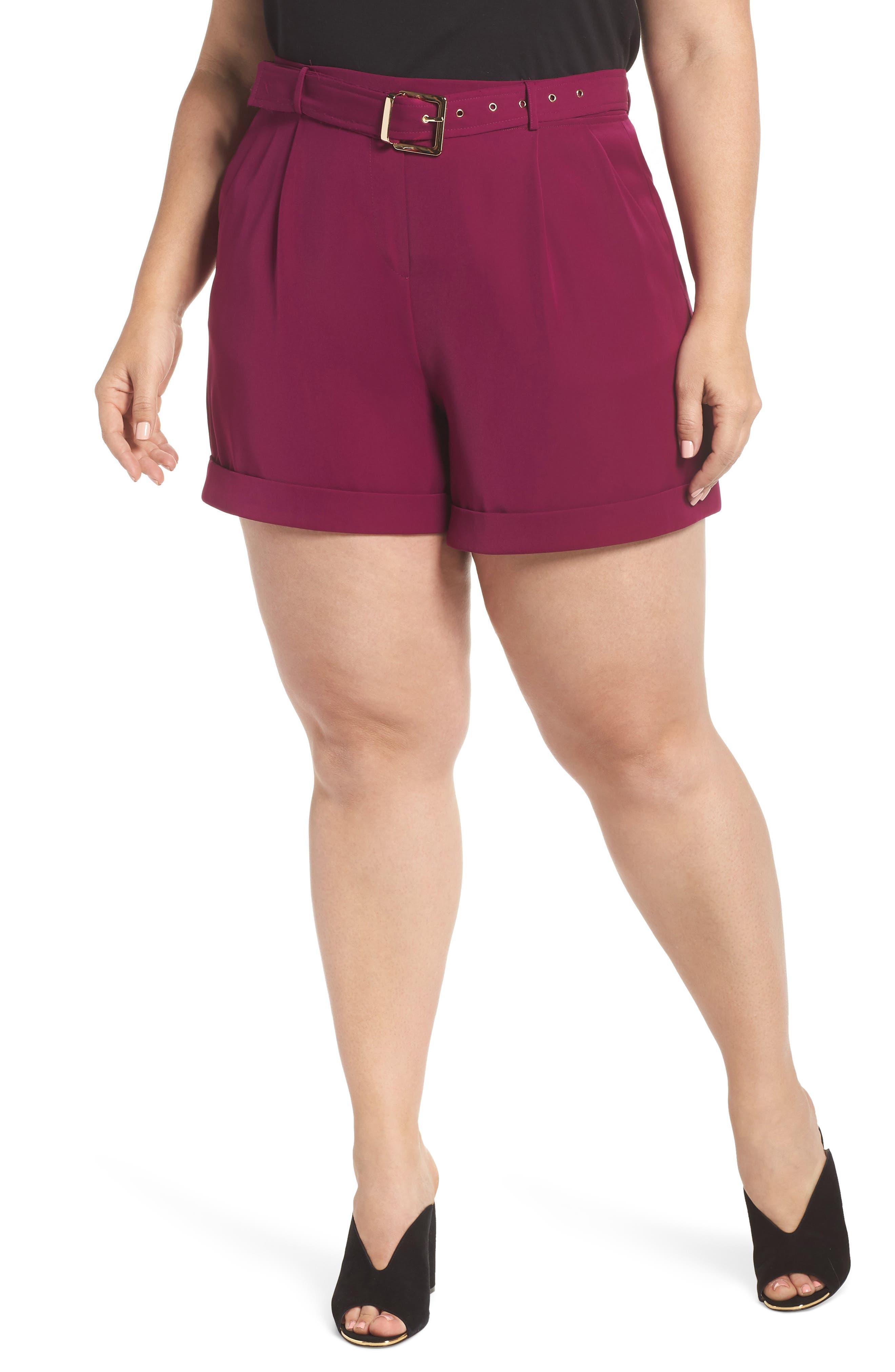ELVI The Arya Belted Shorts (Plus Size)