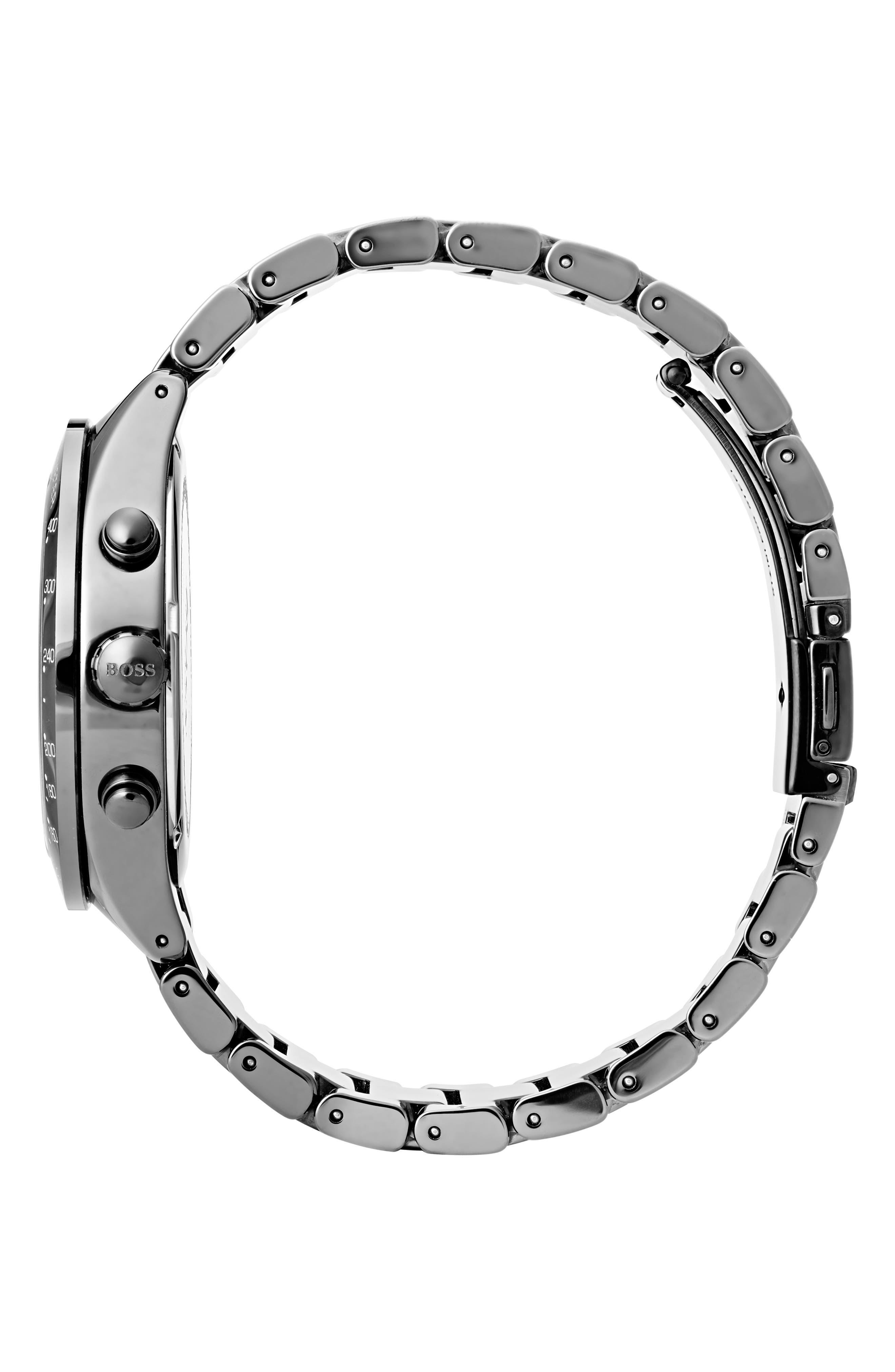 Talent Chronograph Bracelet Watch, 42mm,                             Alternate thumbnail 3, color,                             Black