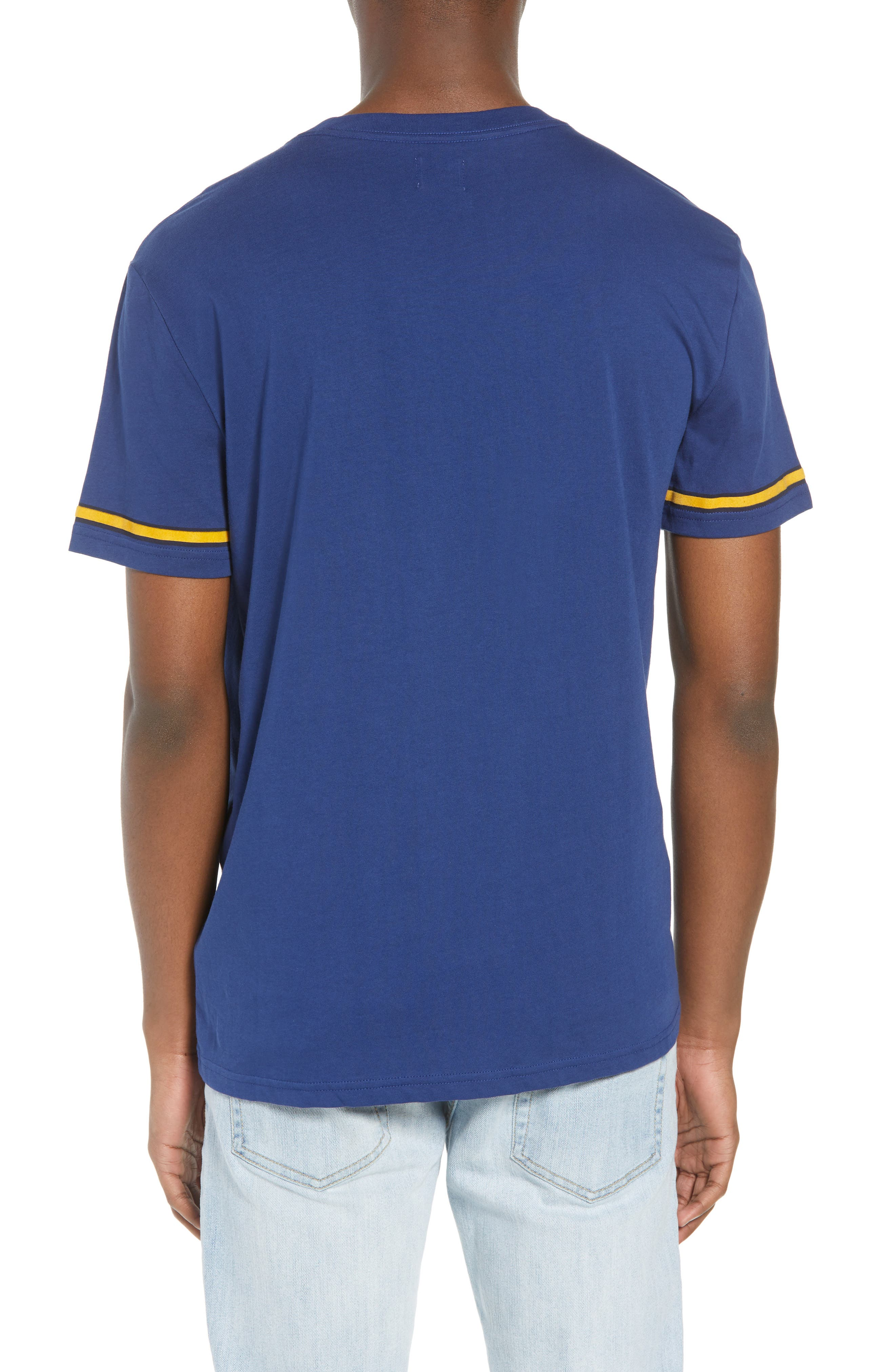 Calvin Klein Varsity T-Shirt,                             Alternate thumbnail 2, color,                             Ink Stone