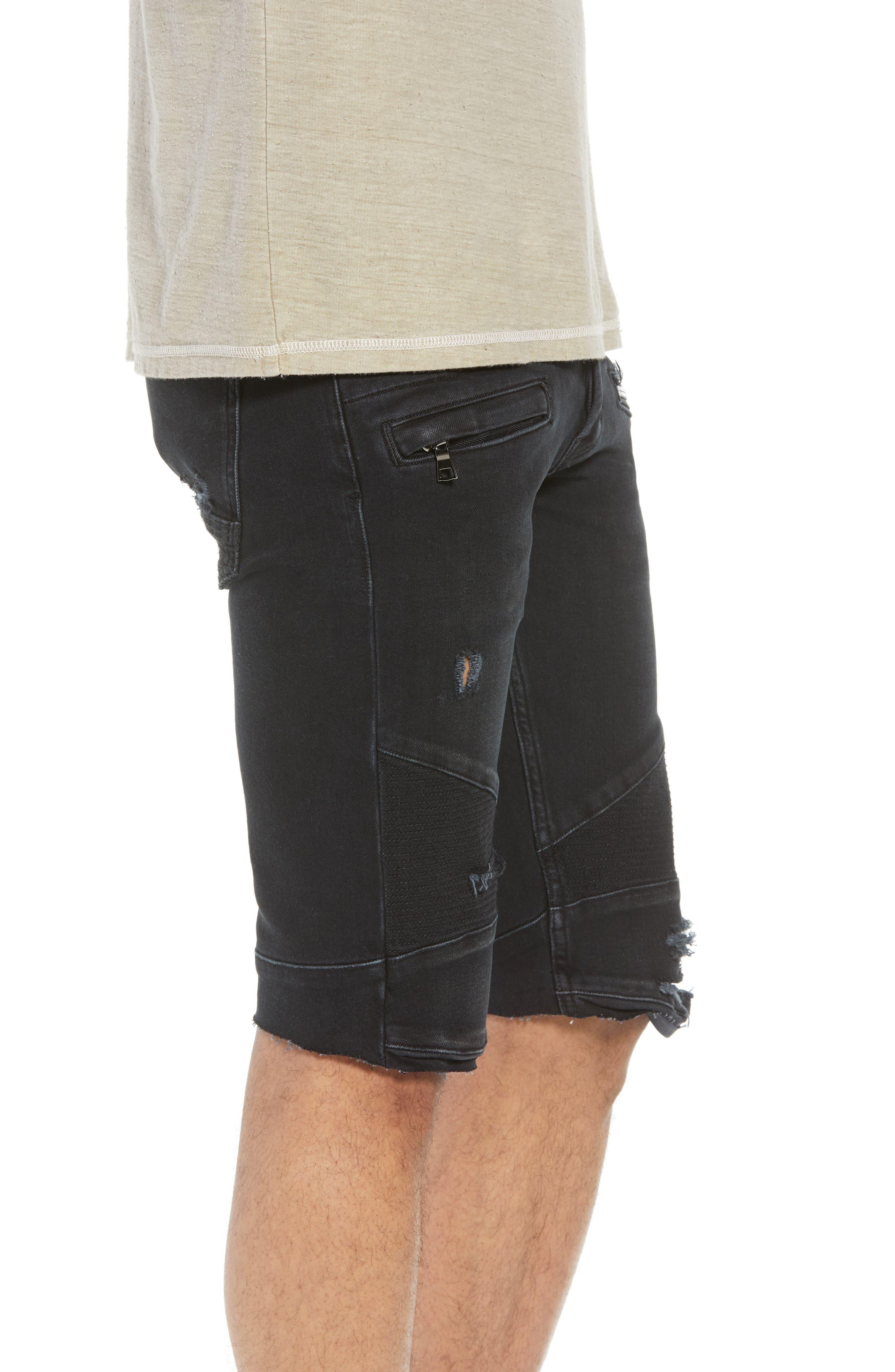 Blinder Biker Cutoff Shorts,                             Alternate thumbnail 3, color,                             Fade Away