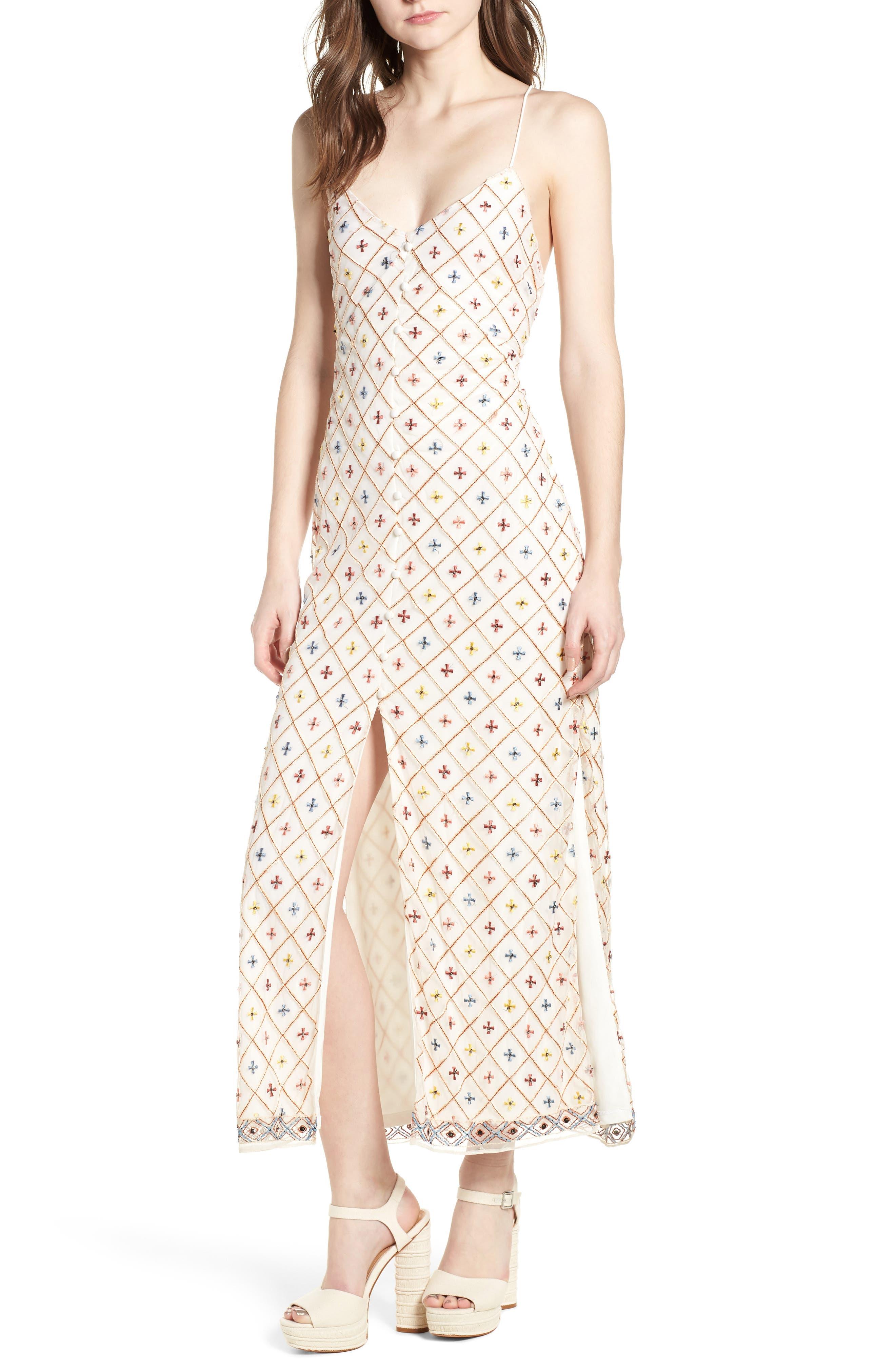 Linda Maxi Dress,                             Main thumbnail 1, color,                             Cream