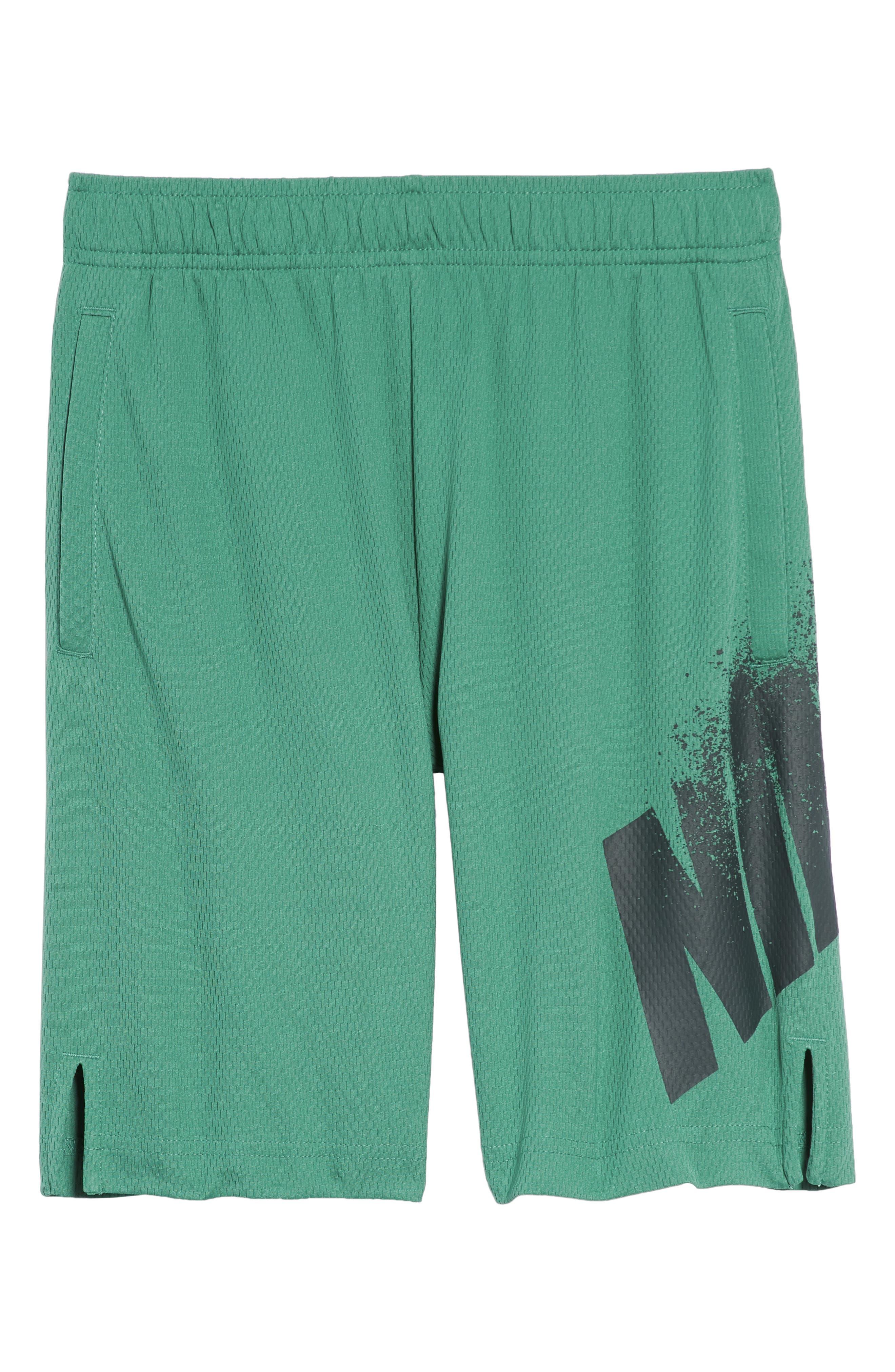 Dry GFX Athletic Shorts,                             Main thumbnail 1, color,                             Green Noise/ Deep Jungle