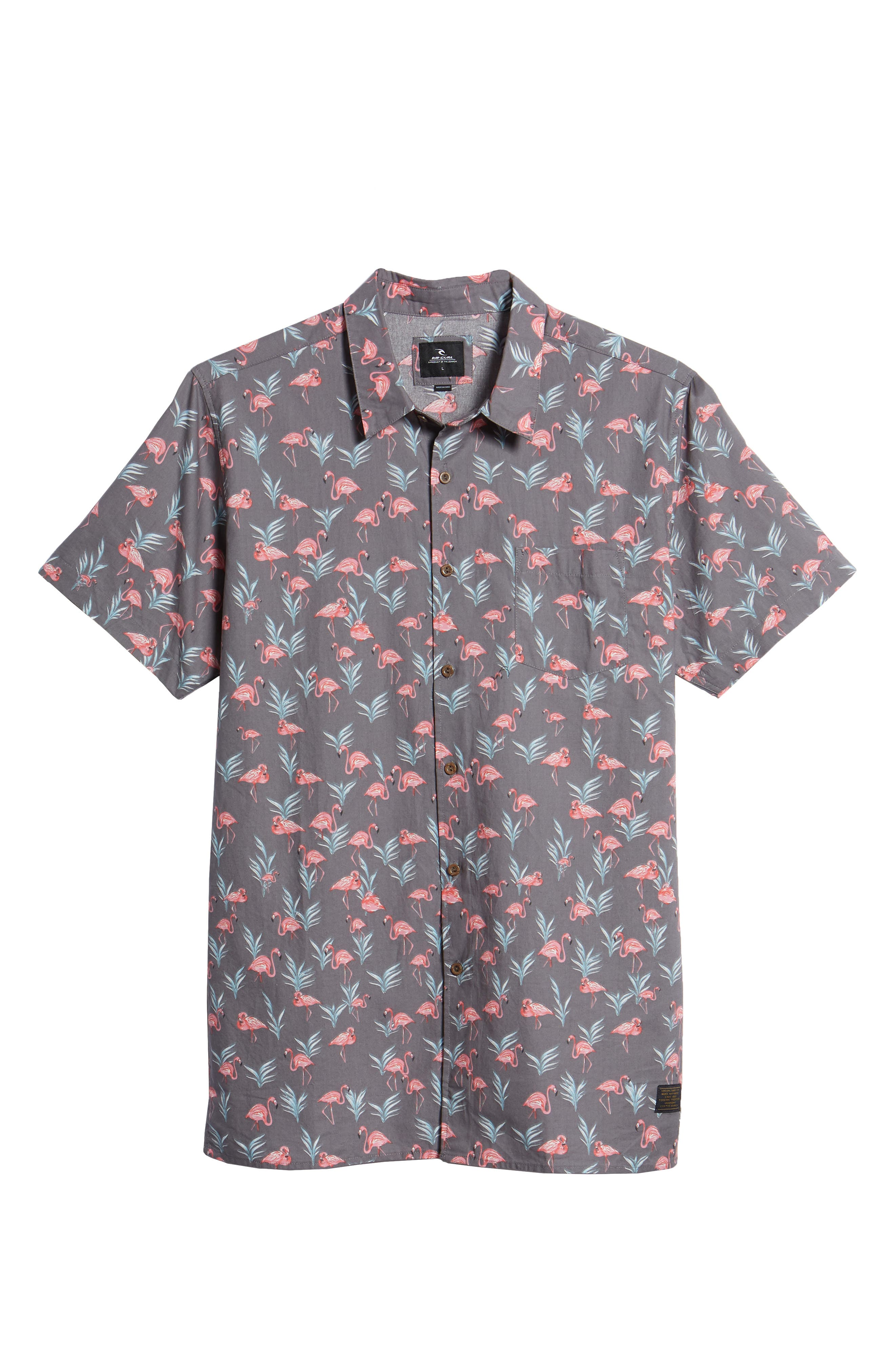 Flaminko Woven Shirt,                             Alternate thumbnail 6, color,                             Black