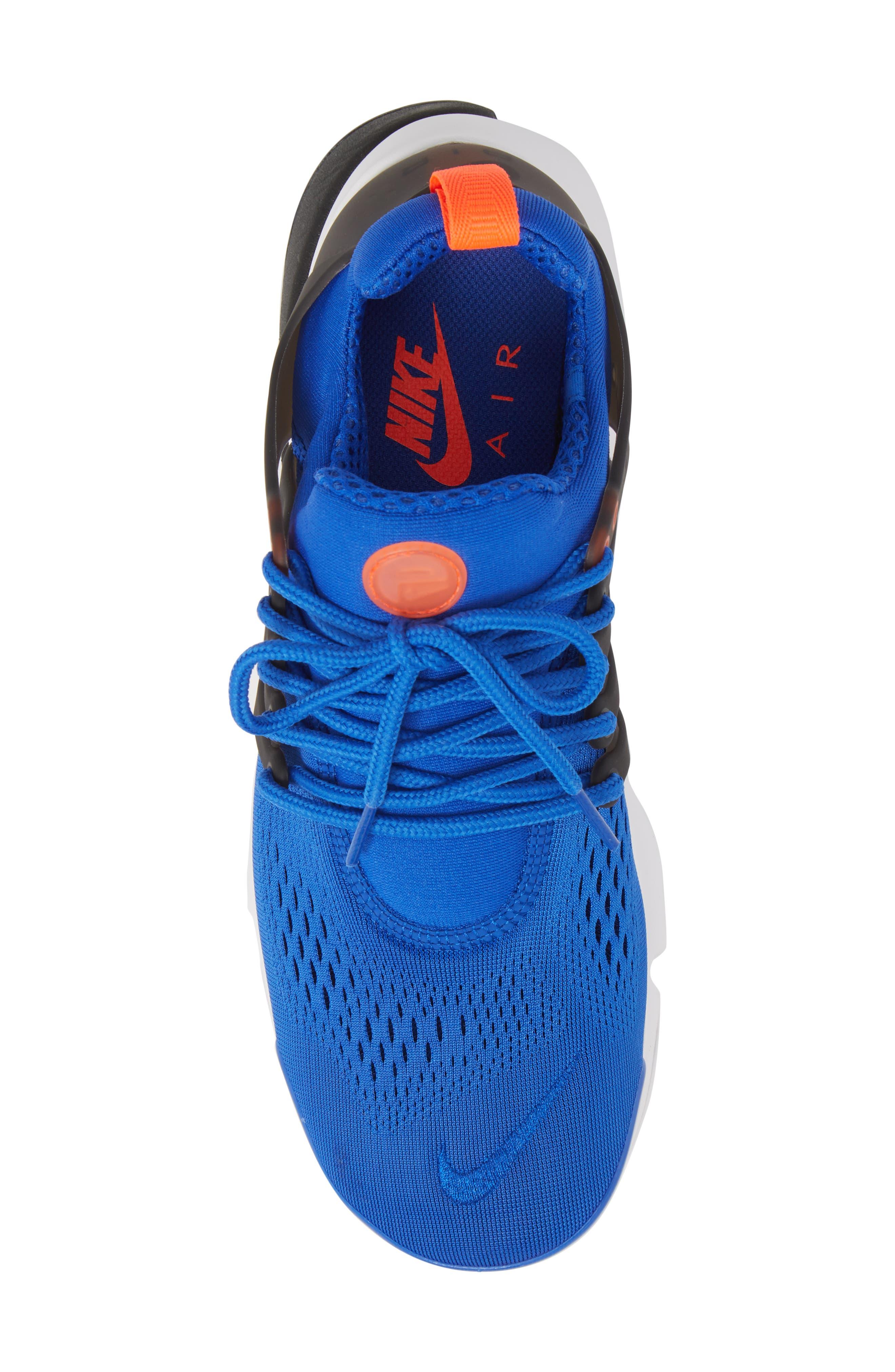Air Presto Ultra Breathe Sneaker,                             Alternate thumbnail 5, color,                             Racer Blue/ Total Crimson
