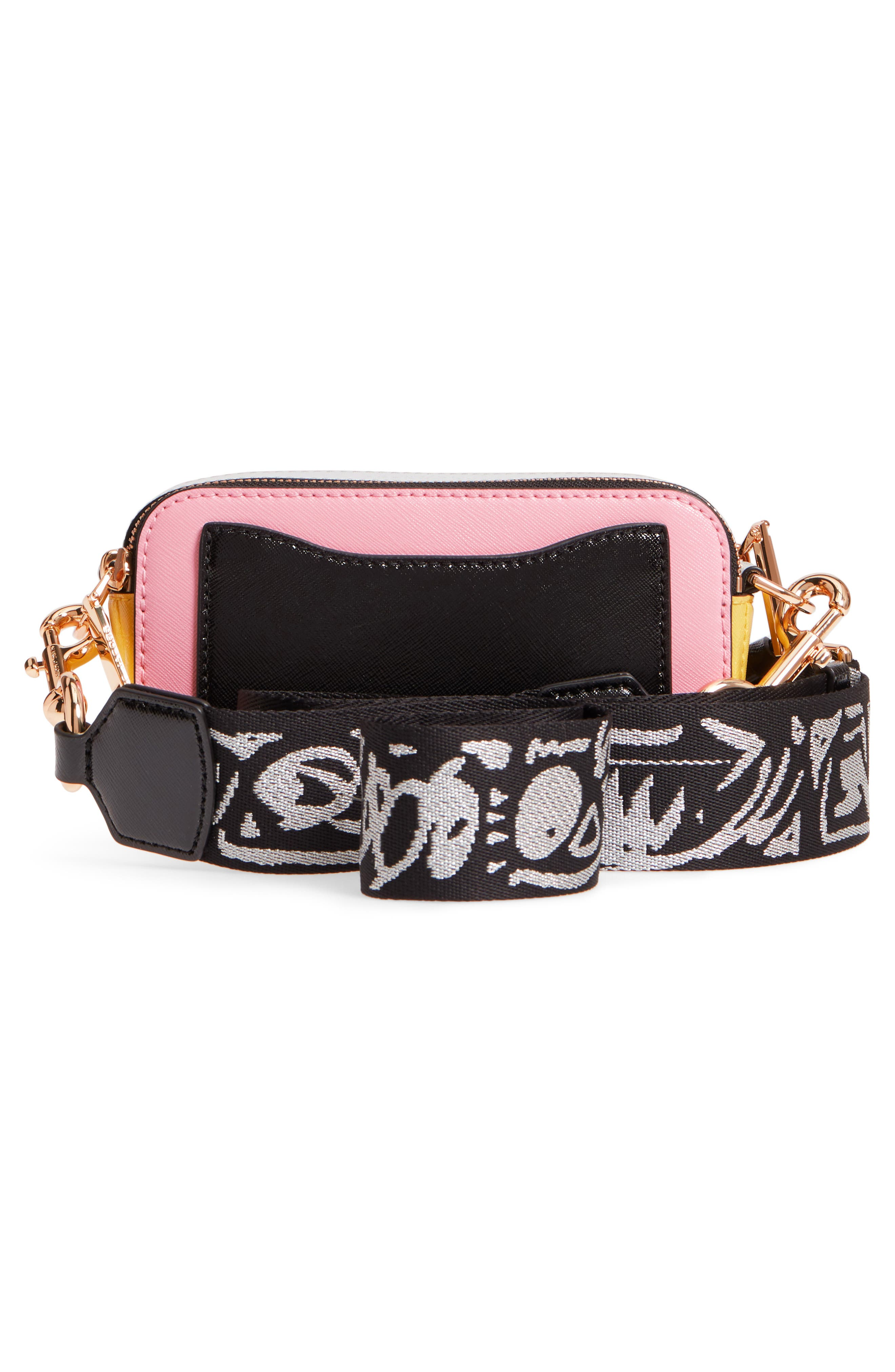 Snapshot Crossbody Bag,                             Alternate thumbnail 3, color,                             Baby Pink Multi