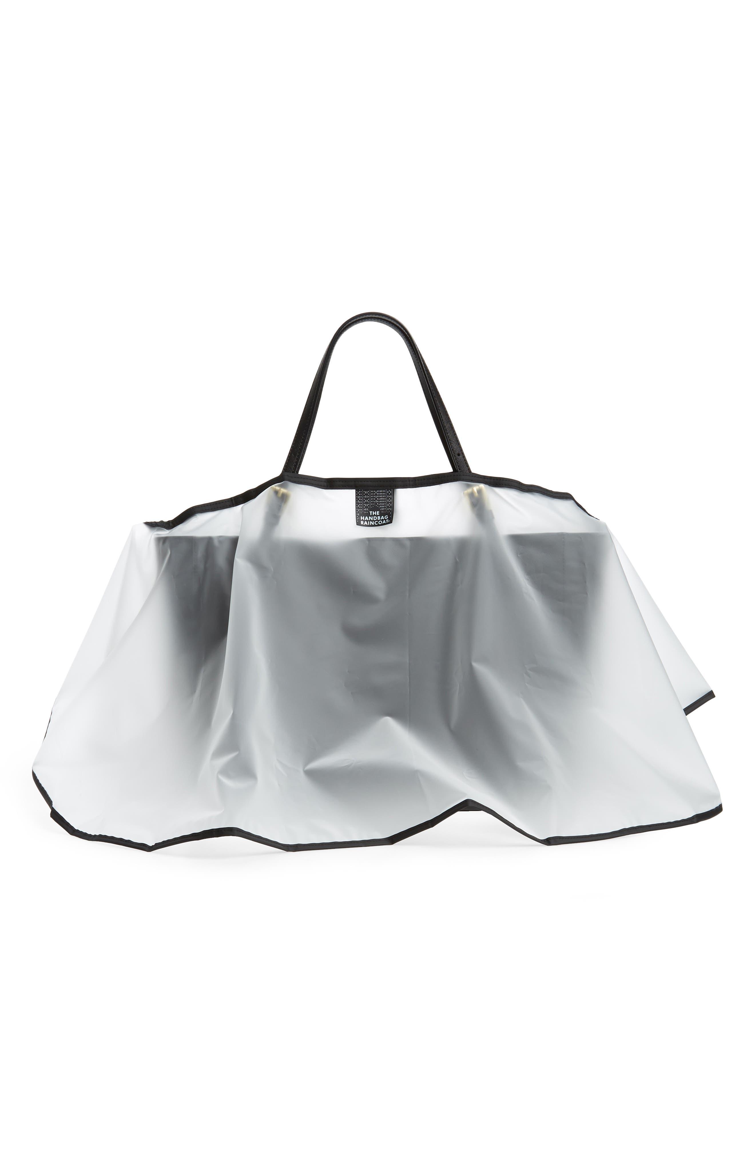 Maxi Clear Handbag Protector,                             Alternate thumbnail 2, color,                             Clear/ Black