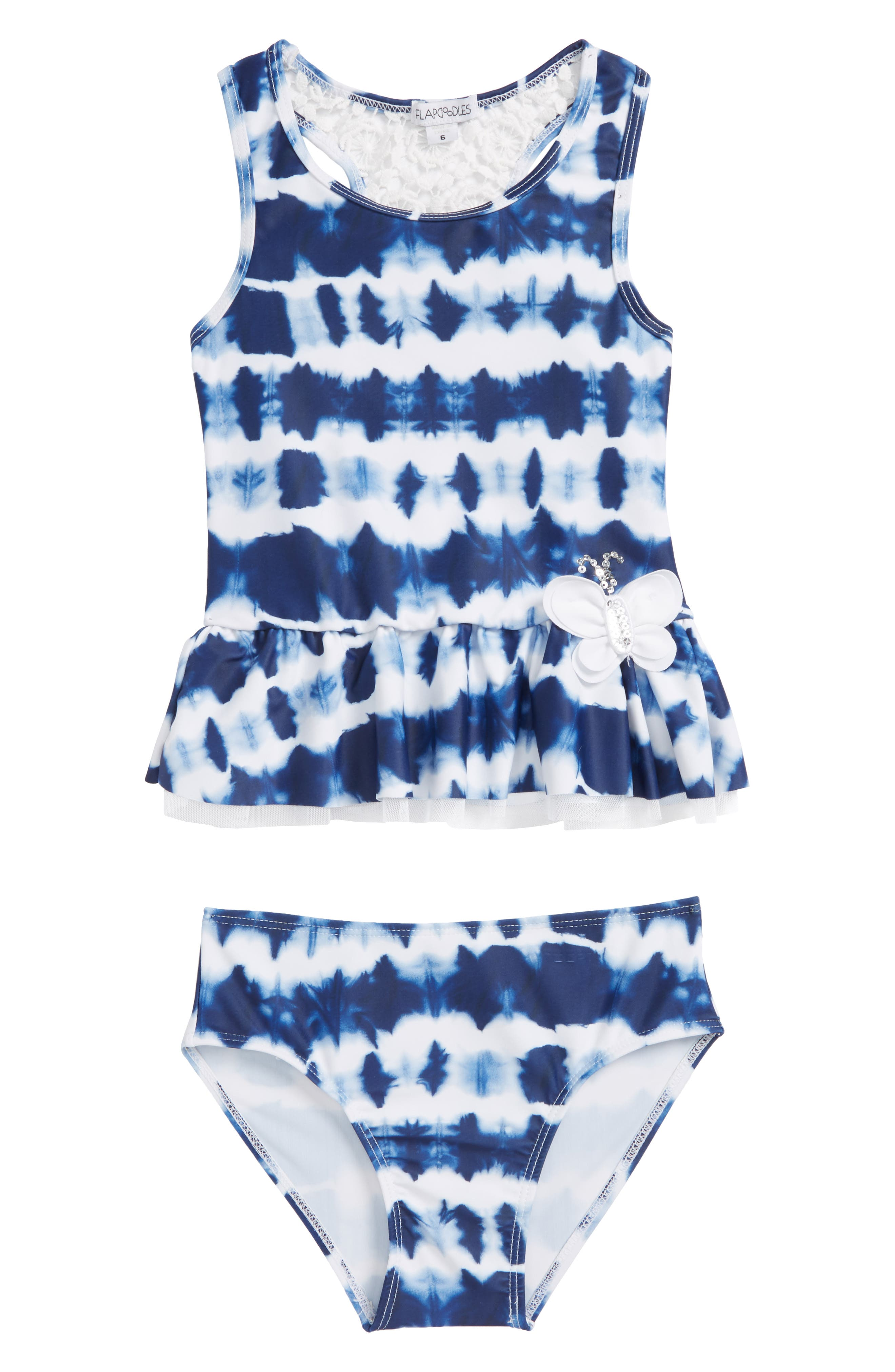 Two-Piece Swimsuit,                         Main,                         color, Navy