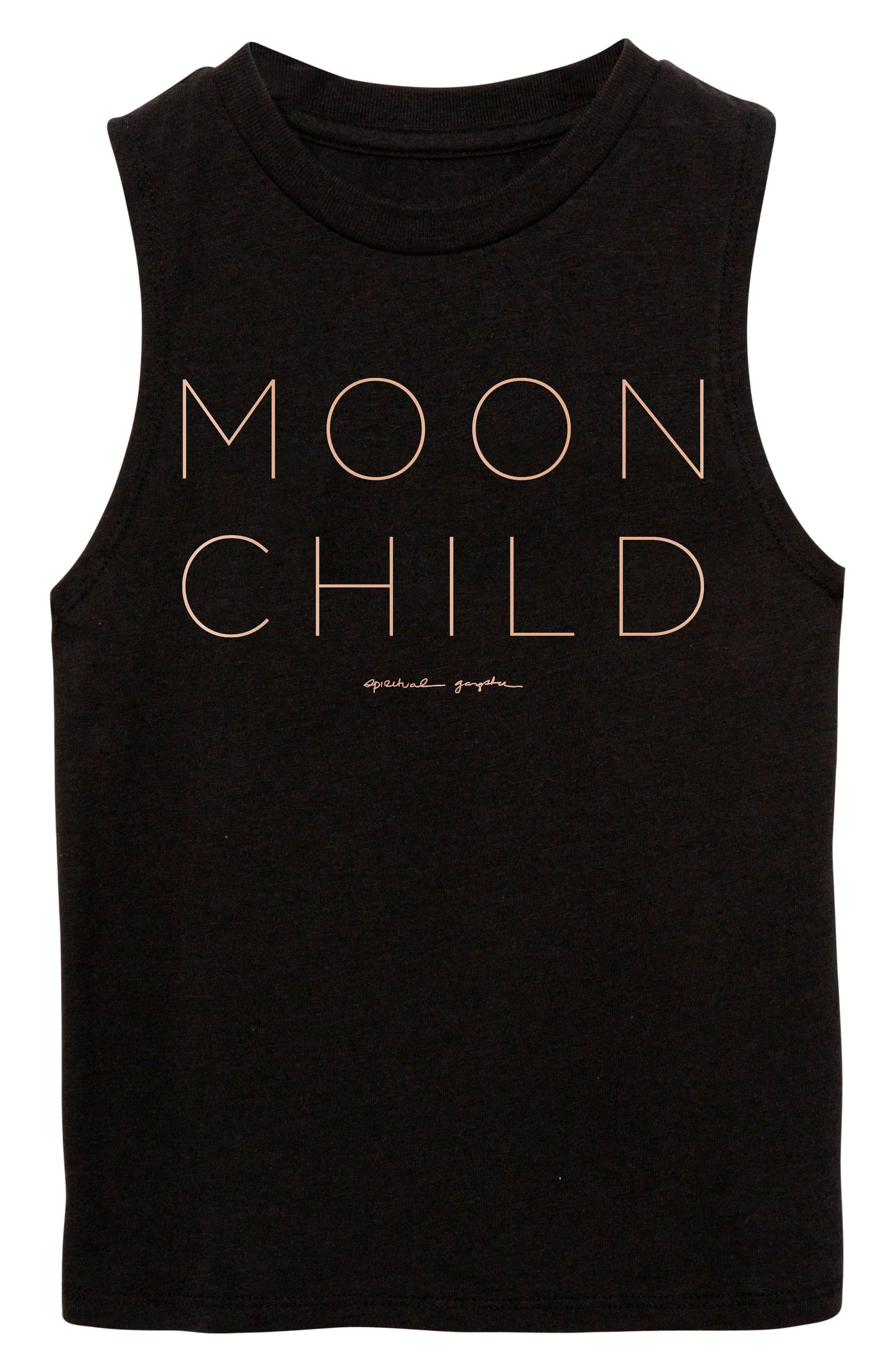 Moon Child Graphic Tank,                             Main thumbnail 1, color,                             Vintage Black