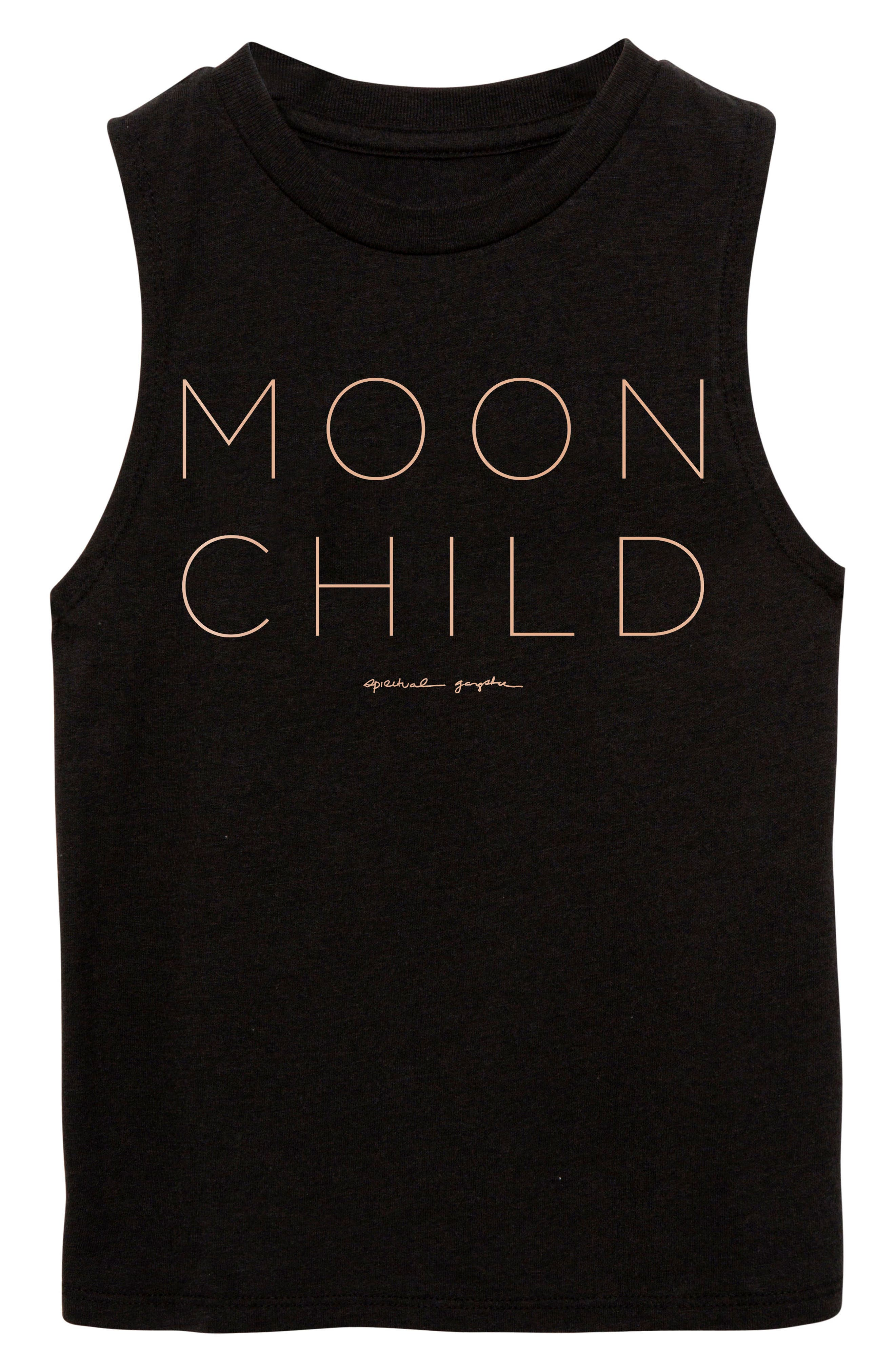 Moon Child Graphic Tank,                         Main,                         color, Vintage Black