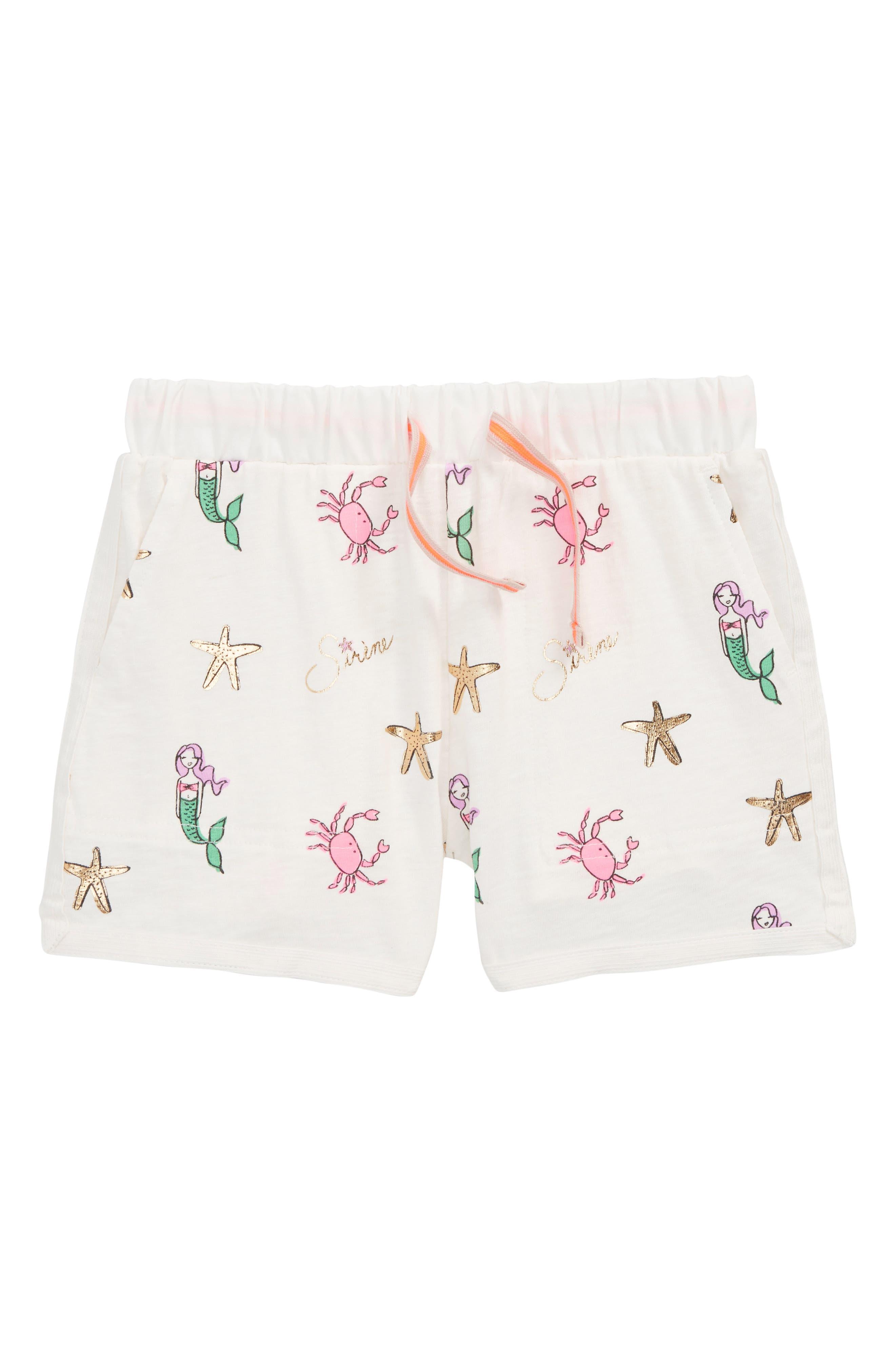 crewcuts by J.Crew Ester Mermaid Print Shorts (Toddler Girls, Little Girls & Big Girls)