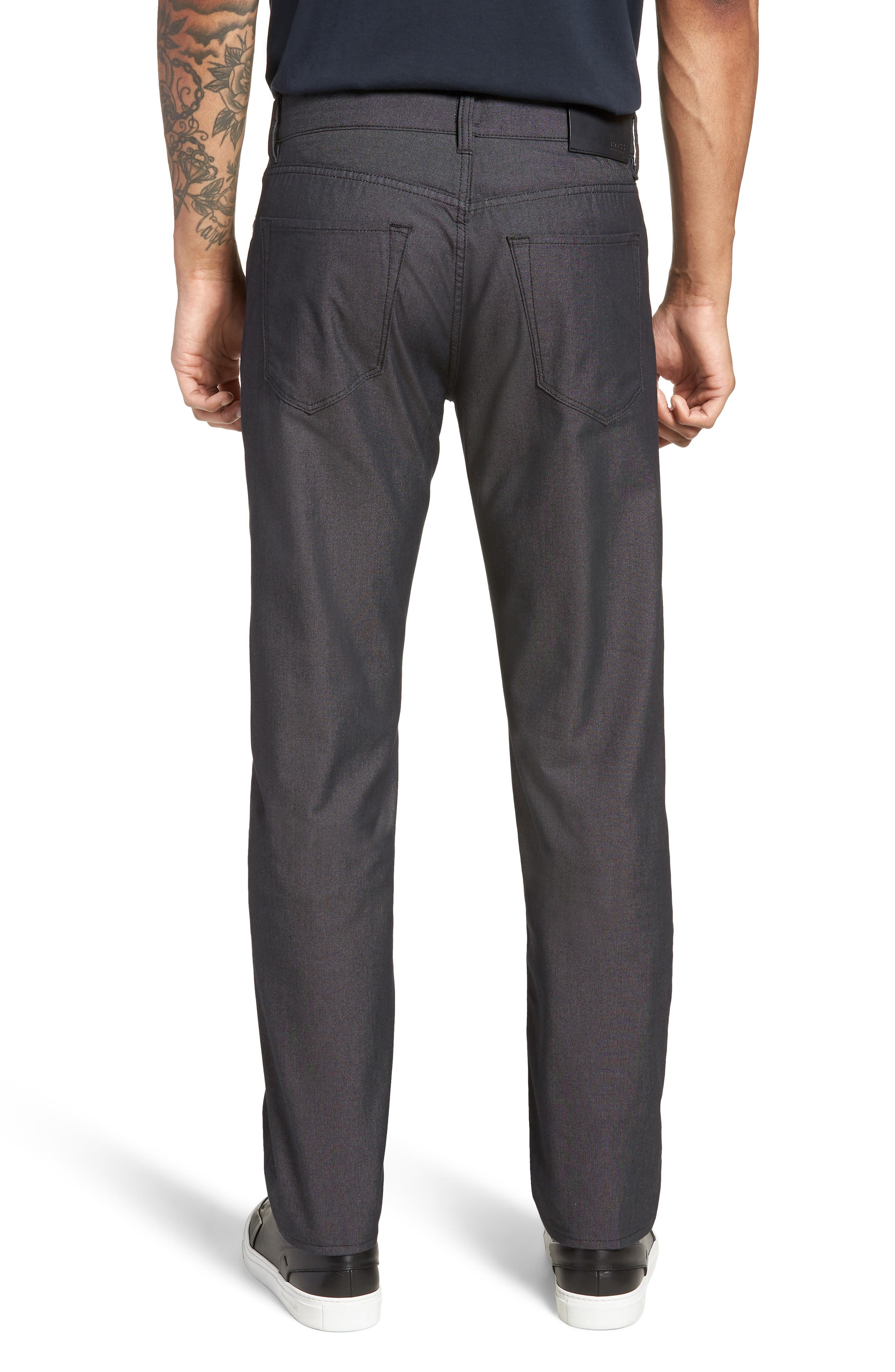 Maine Straight Leg Jeans,                             Alternate thumbnail 2, color,                             Black