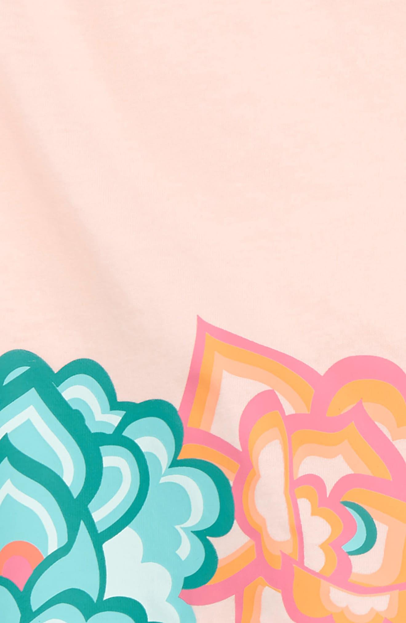 Floral Ruffle Top & Shorts Set,                             Alternate thumbnail 2, color,                             Pink Gloss