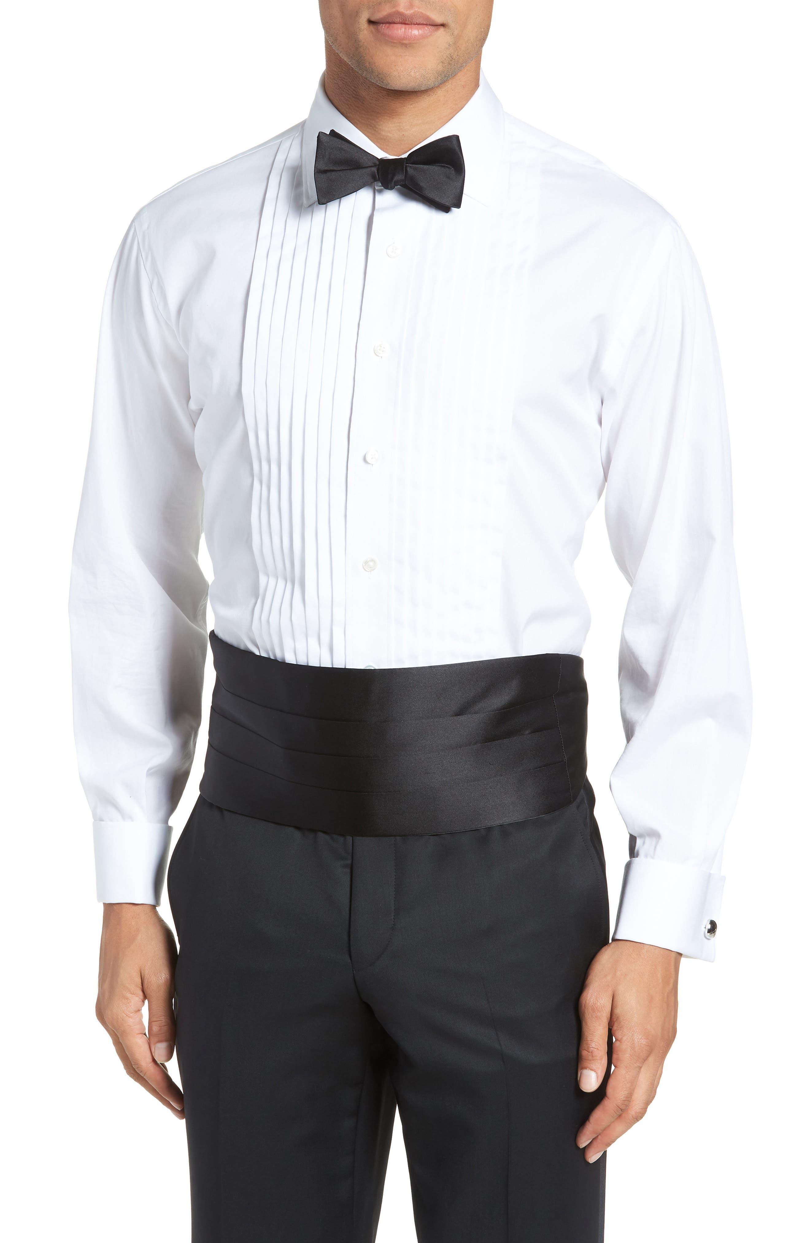 Silk Cummerbund & Bow Tie Set,                         Main,                         color, Black