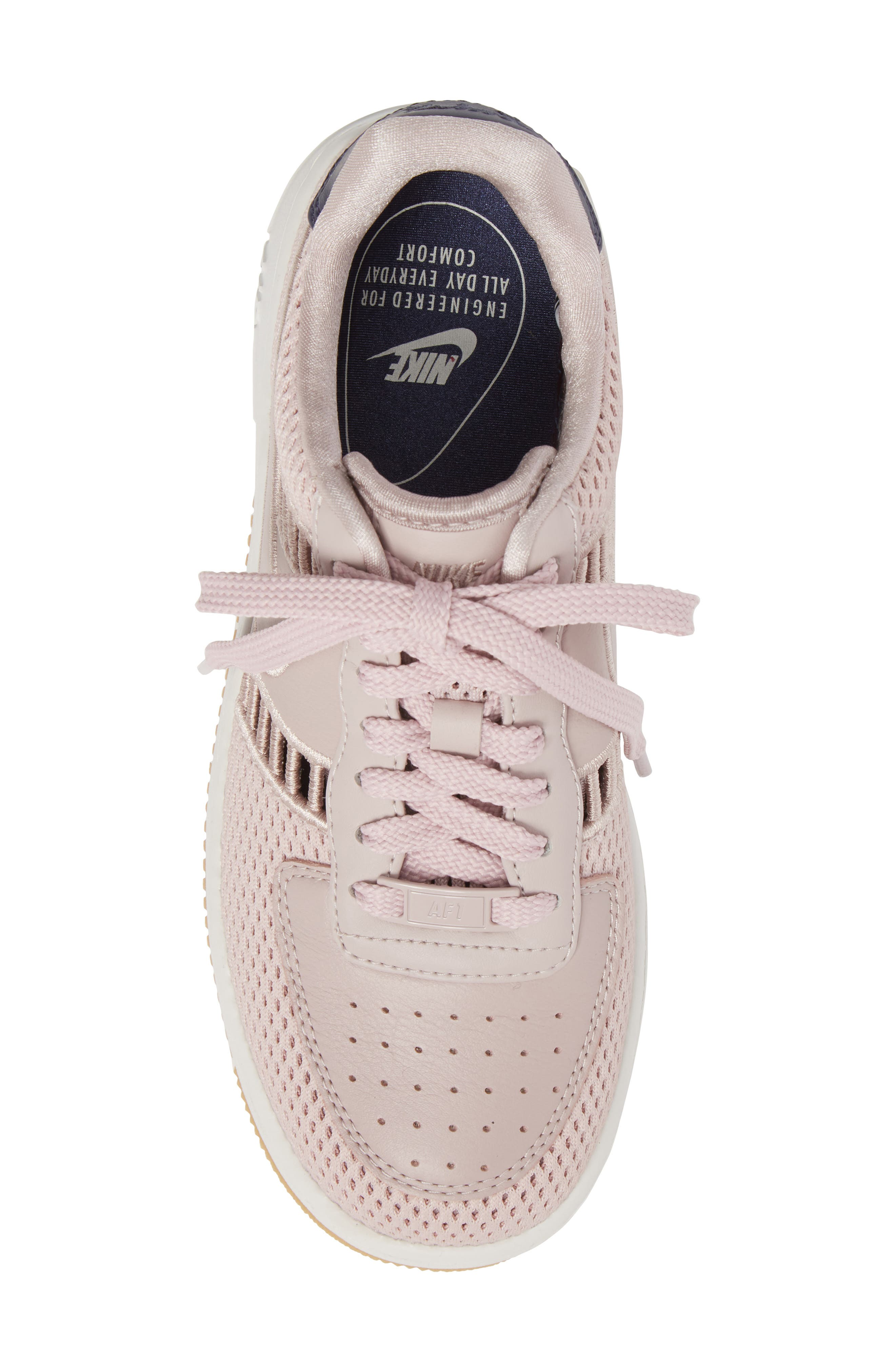 Air Force 1 Upstep SI Mesh Sneaker,                             Alternate thumbnail 5, color,                             Particle Rose/ Summit White