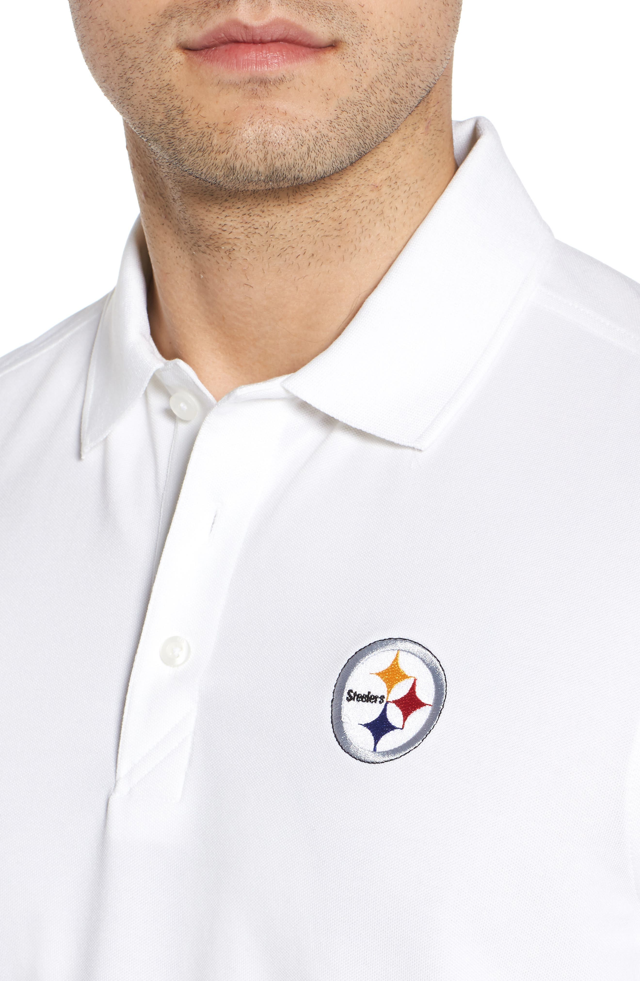 Pittsburgh Steelers - Advantage Regular Fit DryTec Polo,                             Alternate thumbnail 6, color,                             White