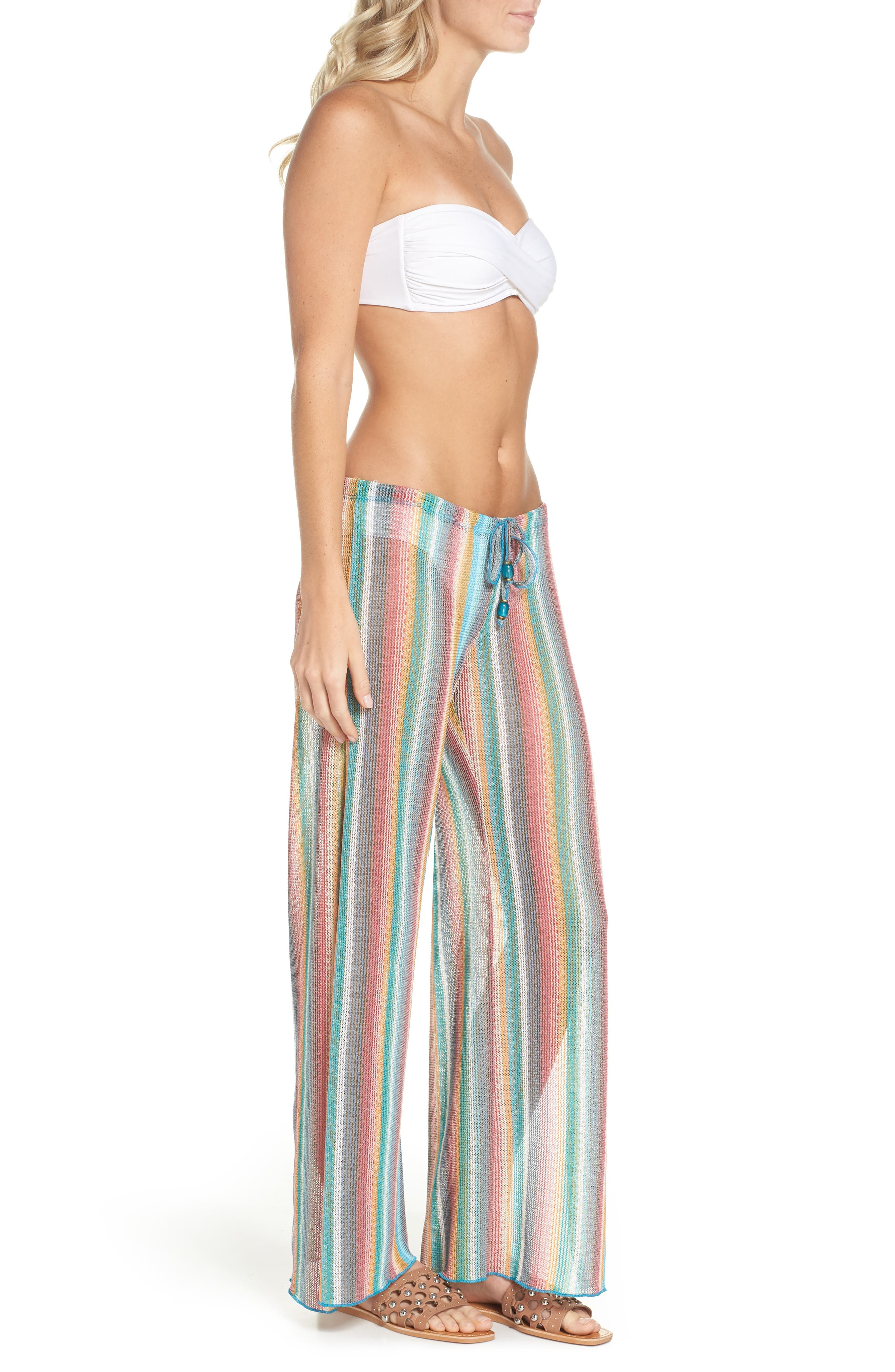 Seville Cover-Up Pants,                             Alternate thumbnail 3, color,                             Orange Multi