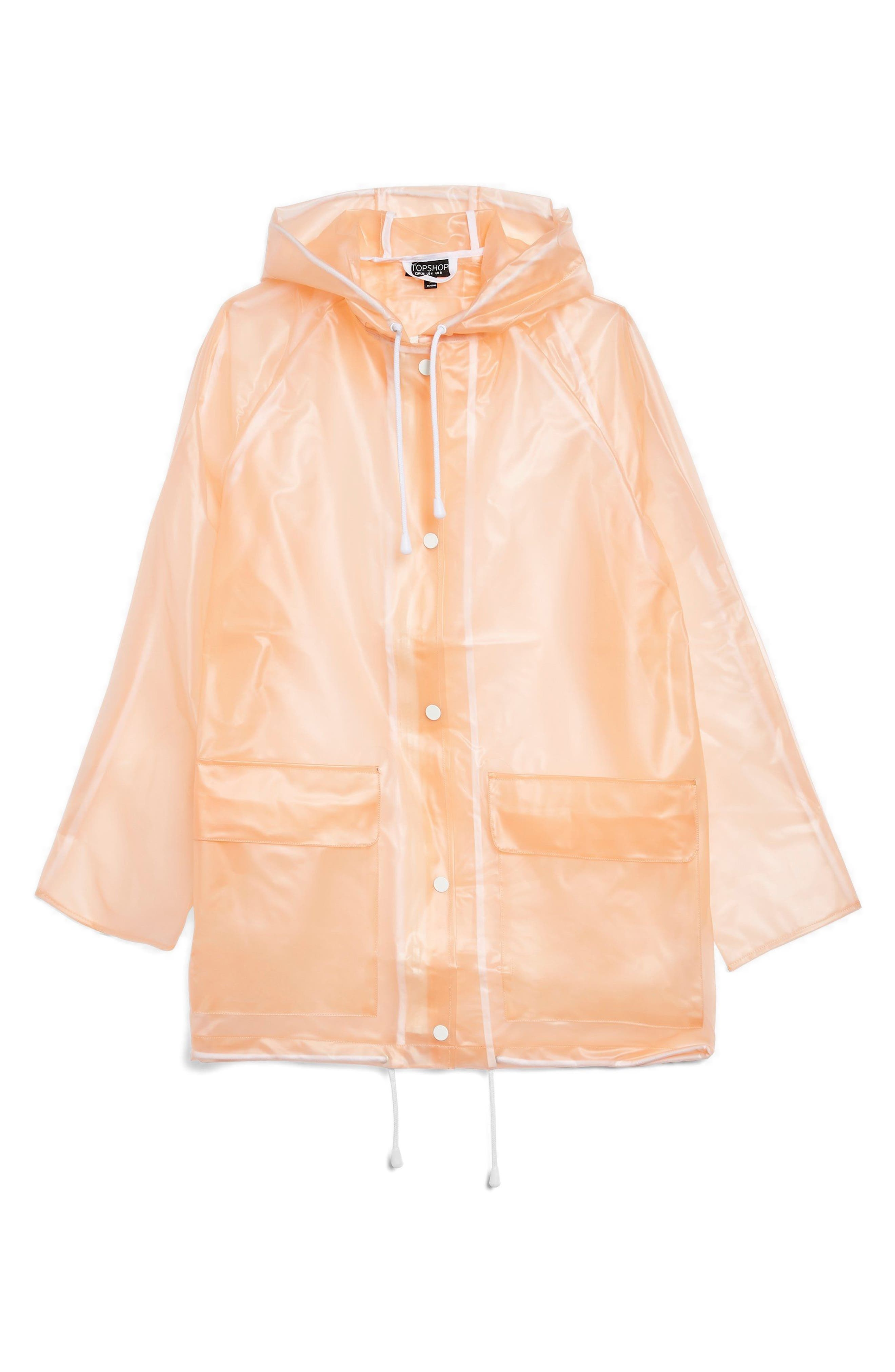 Frosted Marge Mac Rain Jacket,                             Alternate thumbnail 4, color,                             Peach Multi