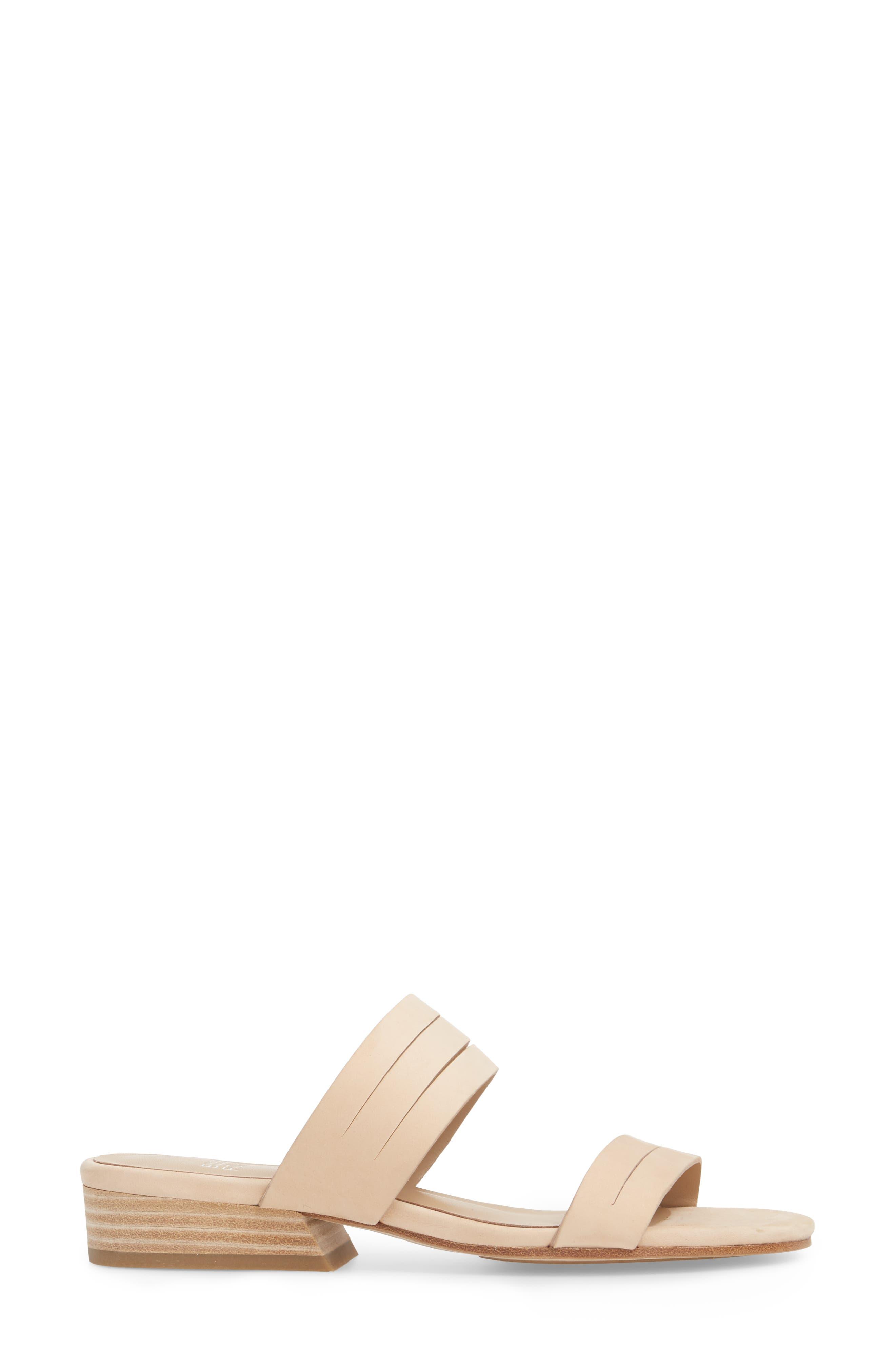 Finch Slide Sandal,                             Alternate thumbnail 3, color,                             Cream Nubuck
