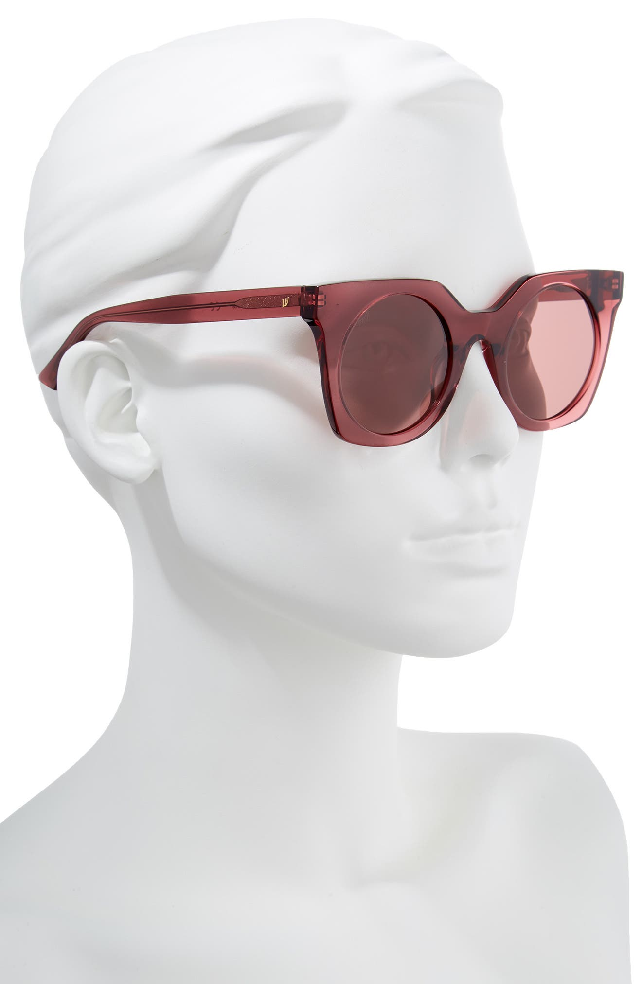 48mm Sunglasses,                             Alternate thumbnail 2, color,                             Shiny Violet/ Violet