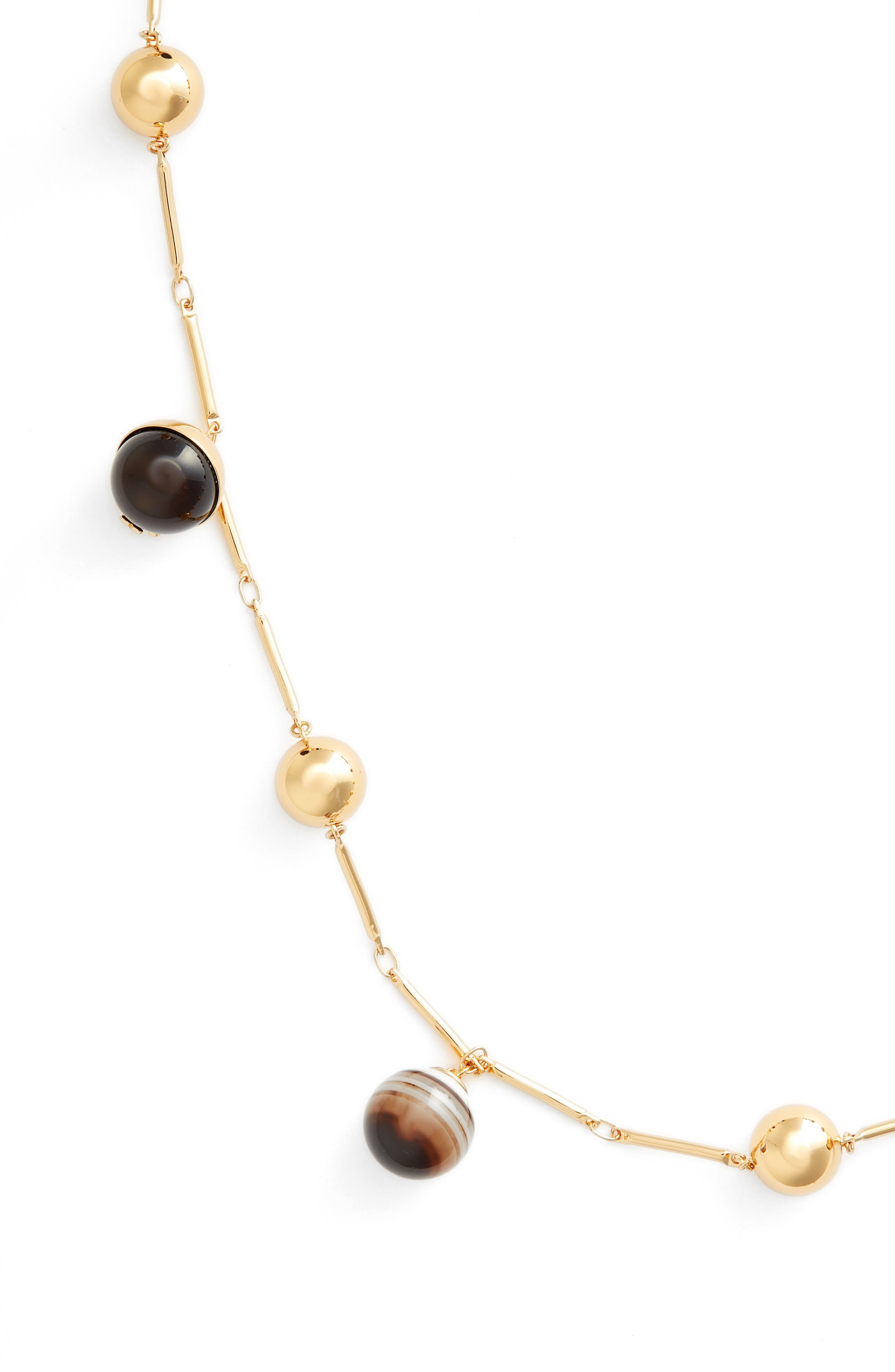 Logo Bead Rosary Necklace,                             Alternate thumbnail 2, color,                             Agate/ Tory Gold