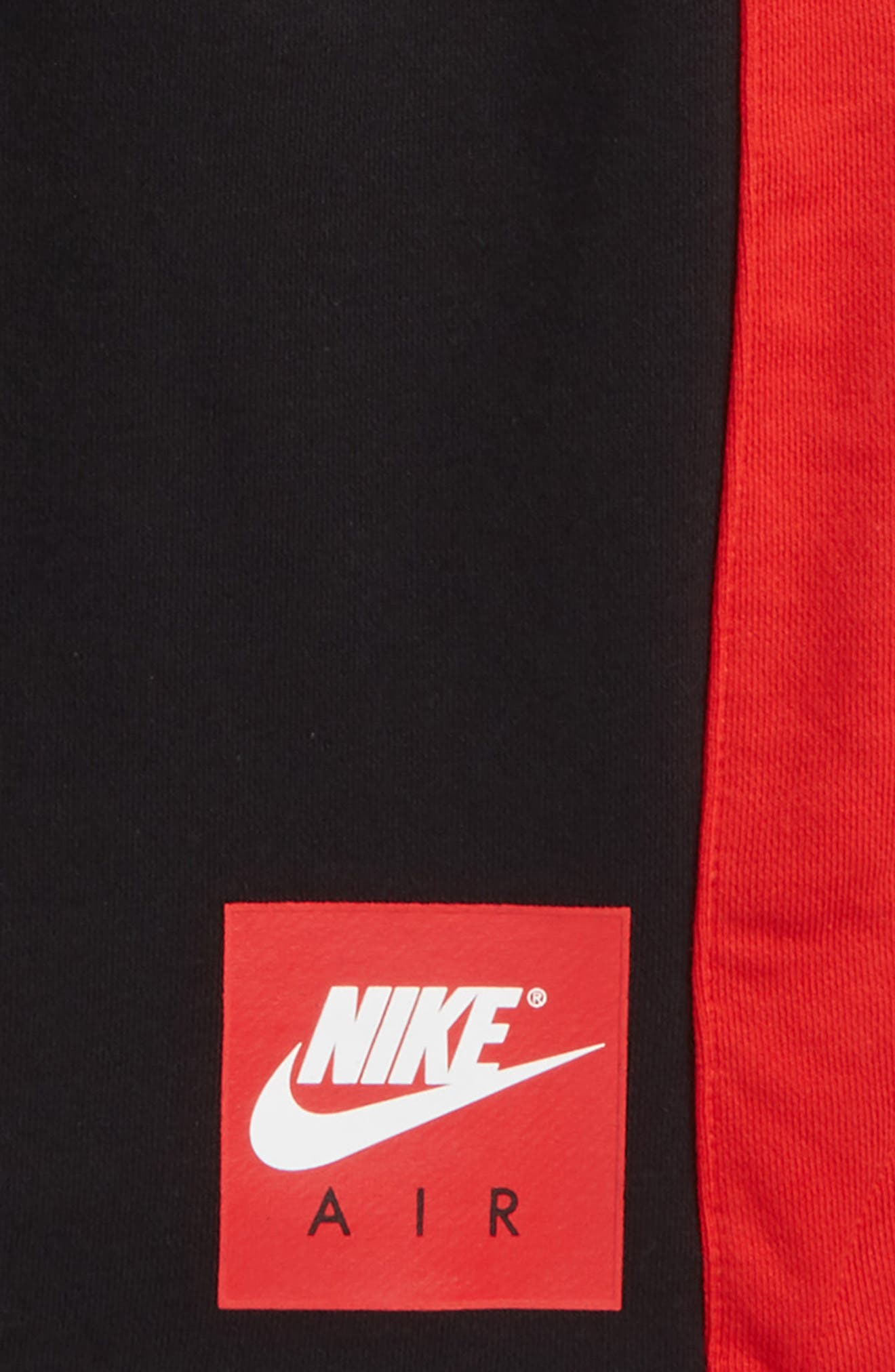 Air Shorts,                             Alternate thumbnail 2, color,                             Black/ University Red