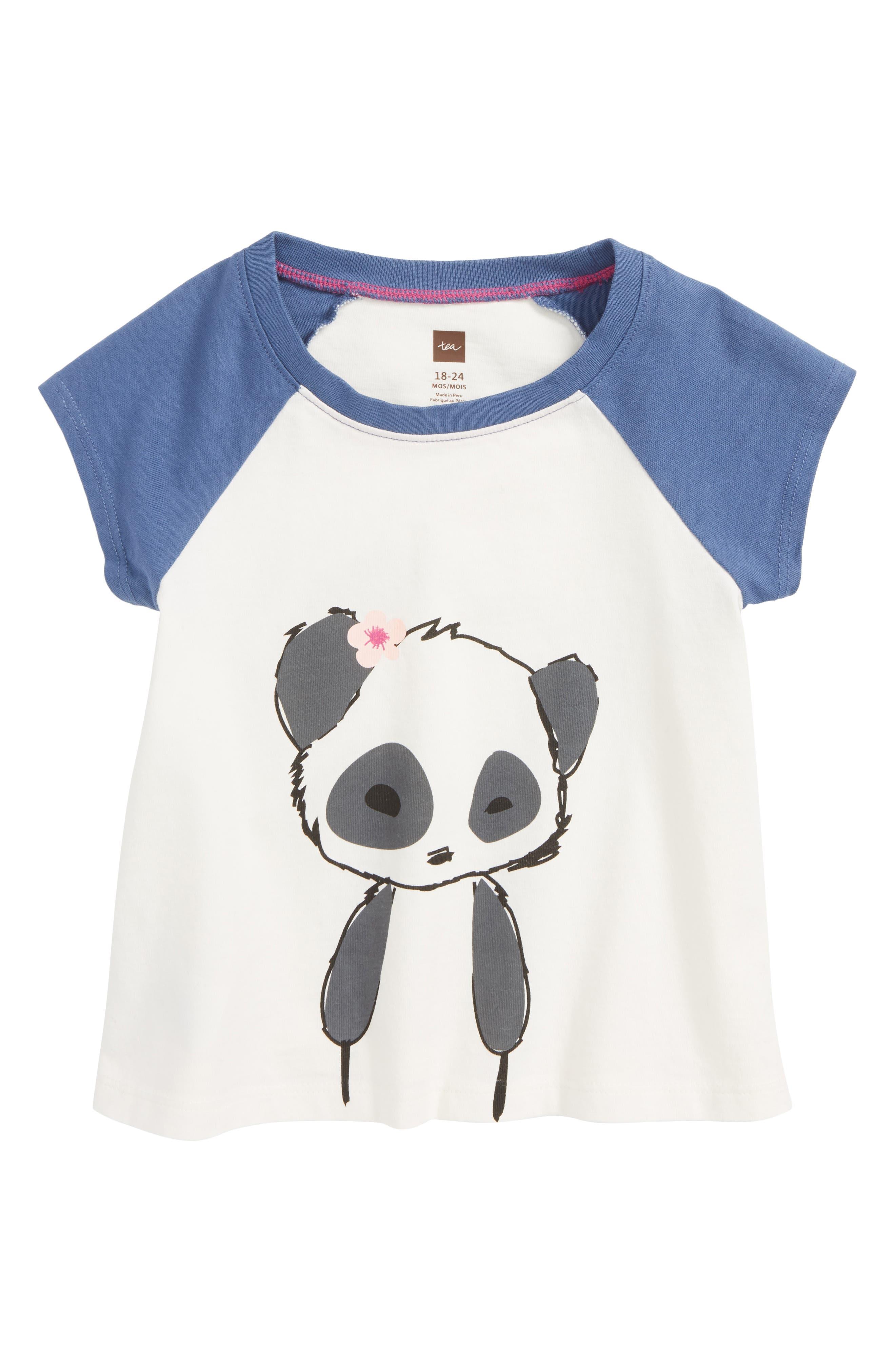 Little Panda Tee,                             Main thumbnail 1, color,                             Chalk