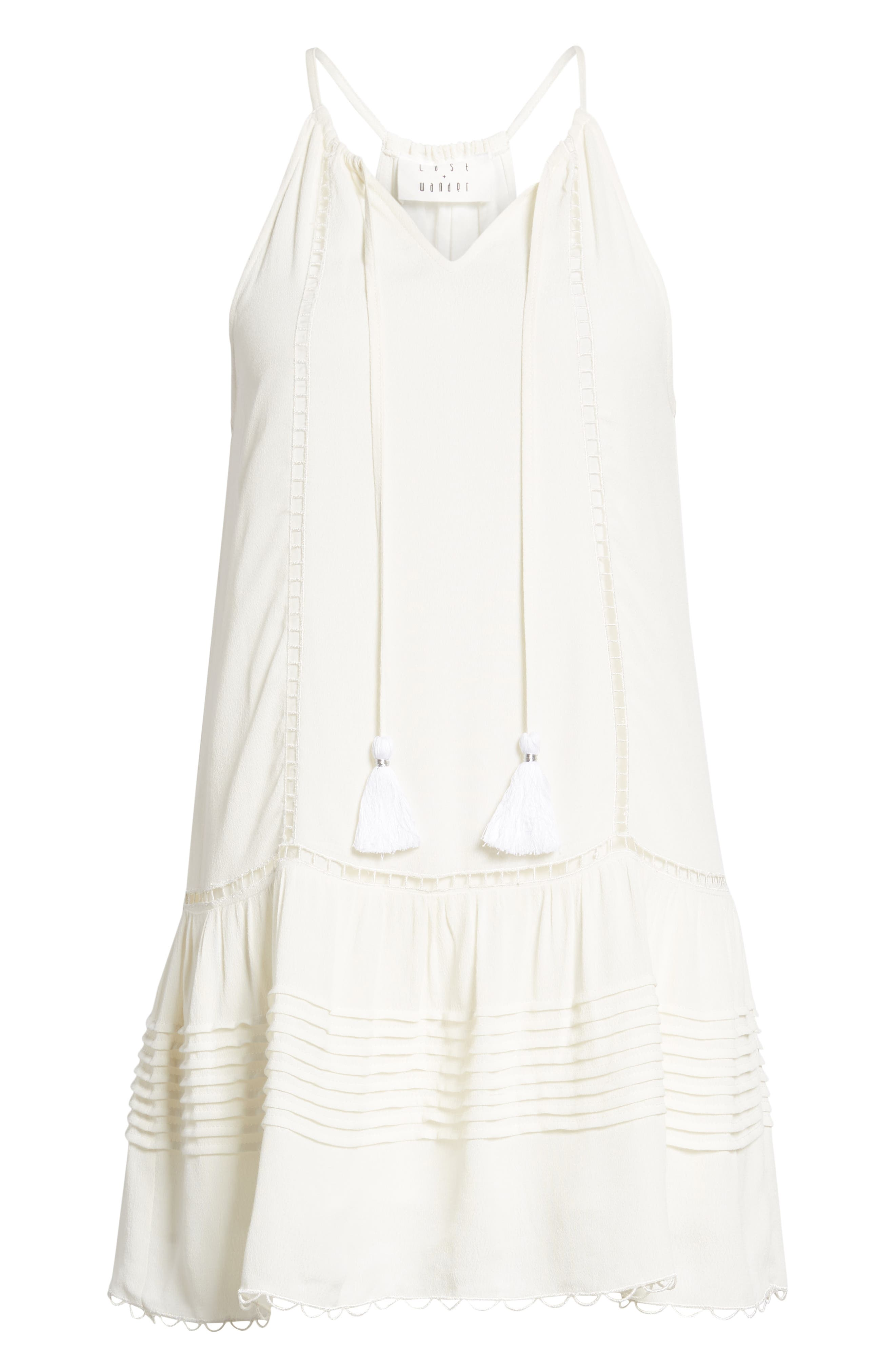 Sincerely Embroidered Minidress,                             Alternate thumbnail 7, color,                             Ivory